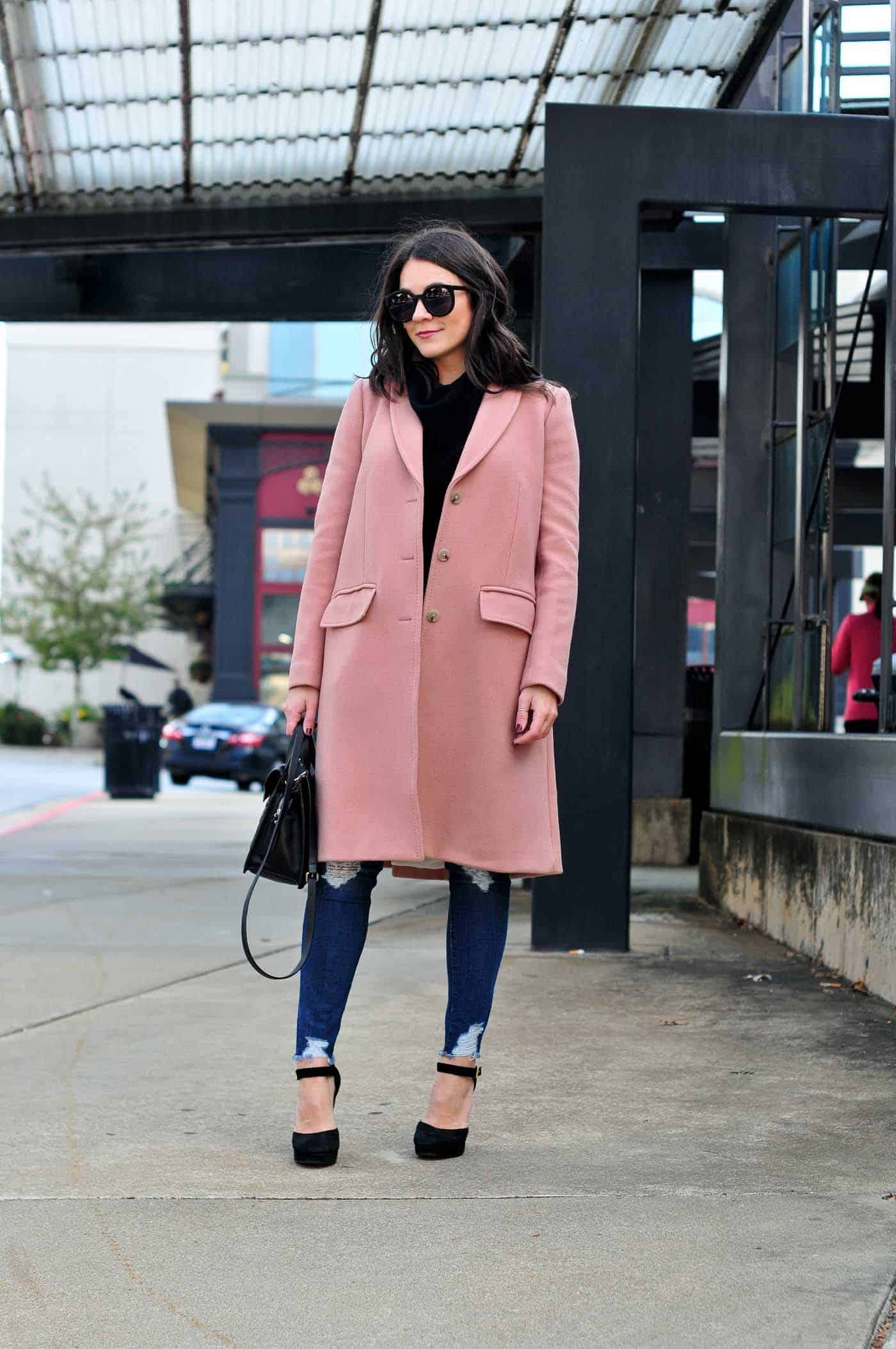 how to style a pink coat, pink winter coat ideas - My Style Vita @mystylevita