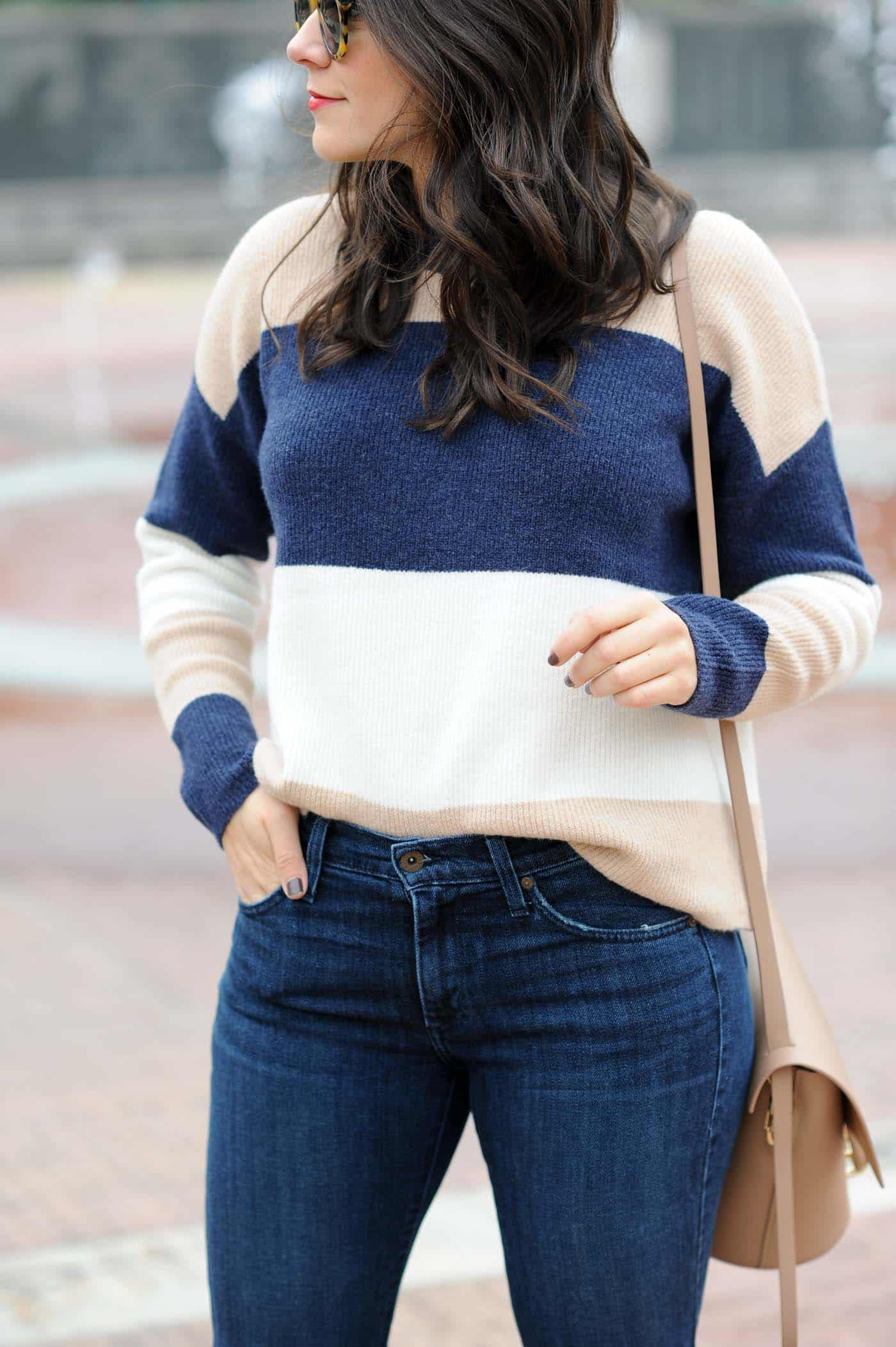 Madewell striped sweater, fall outfits - My Style Vita @mystylevita