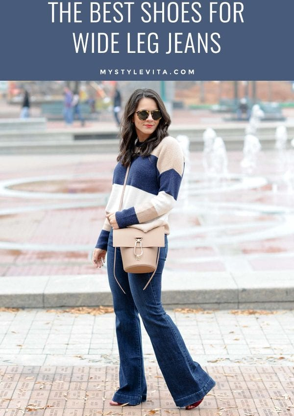 best shoes for wide leg jeans, how to style wide leg jeans - My Style Vita