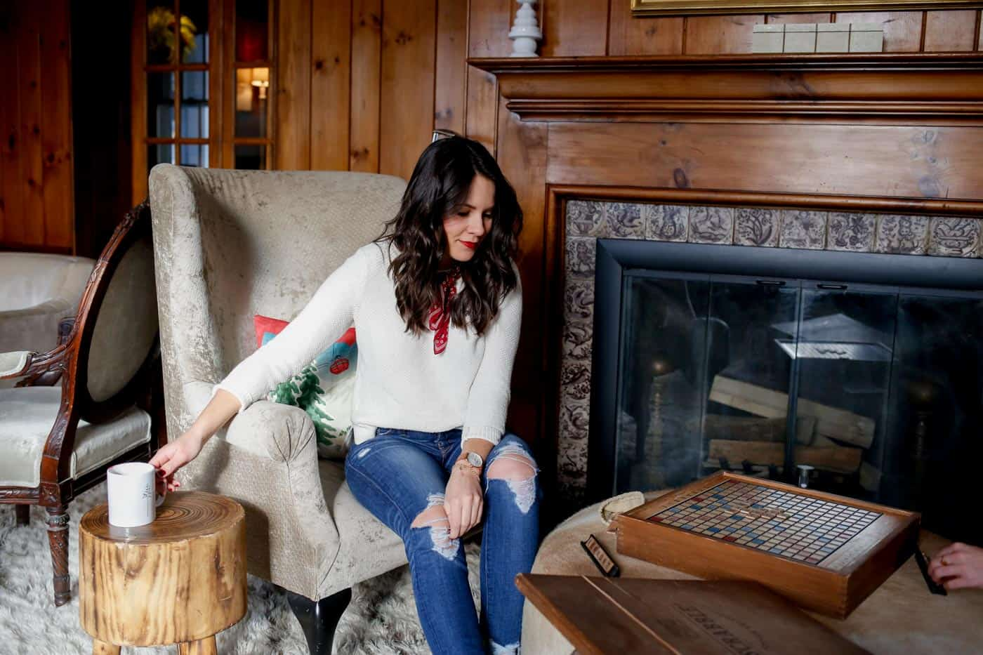scrabble, game night, things to do in Vermont, cozy winter fireplace - My Style Vita @mystylevita