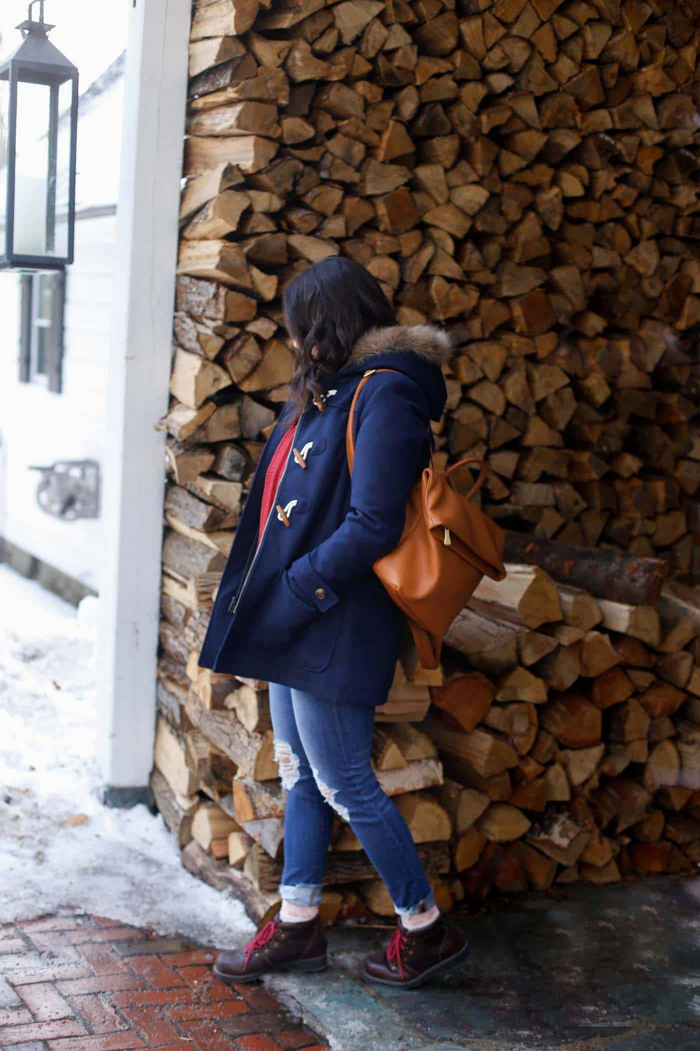 winter wonderland, things to wear in the winter, cozy outfits, snow, Vermont - My Style Vita @mystylevita