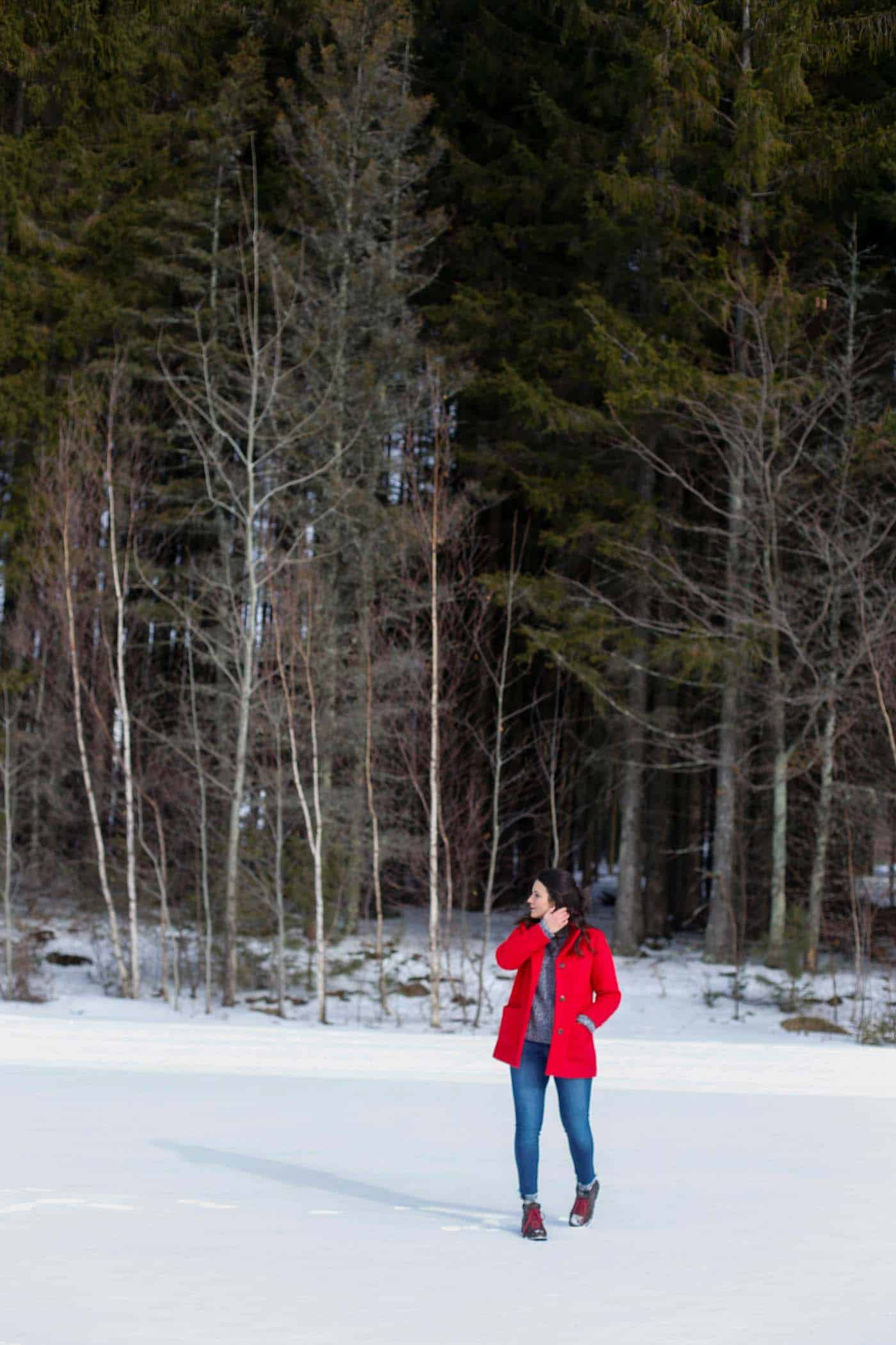 winter wonderland, winter style, red winter coat - My Style Vita @mystylevita