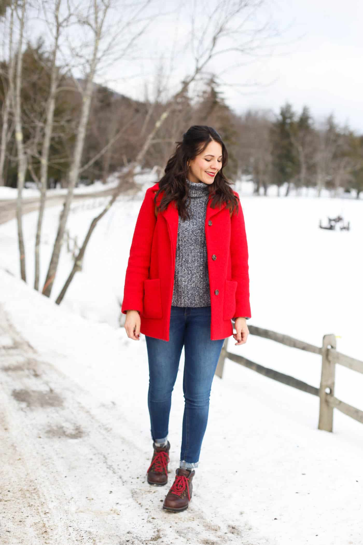 red winter coat, winter style, turtleneck - My Style Vita @mystylevita
