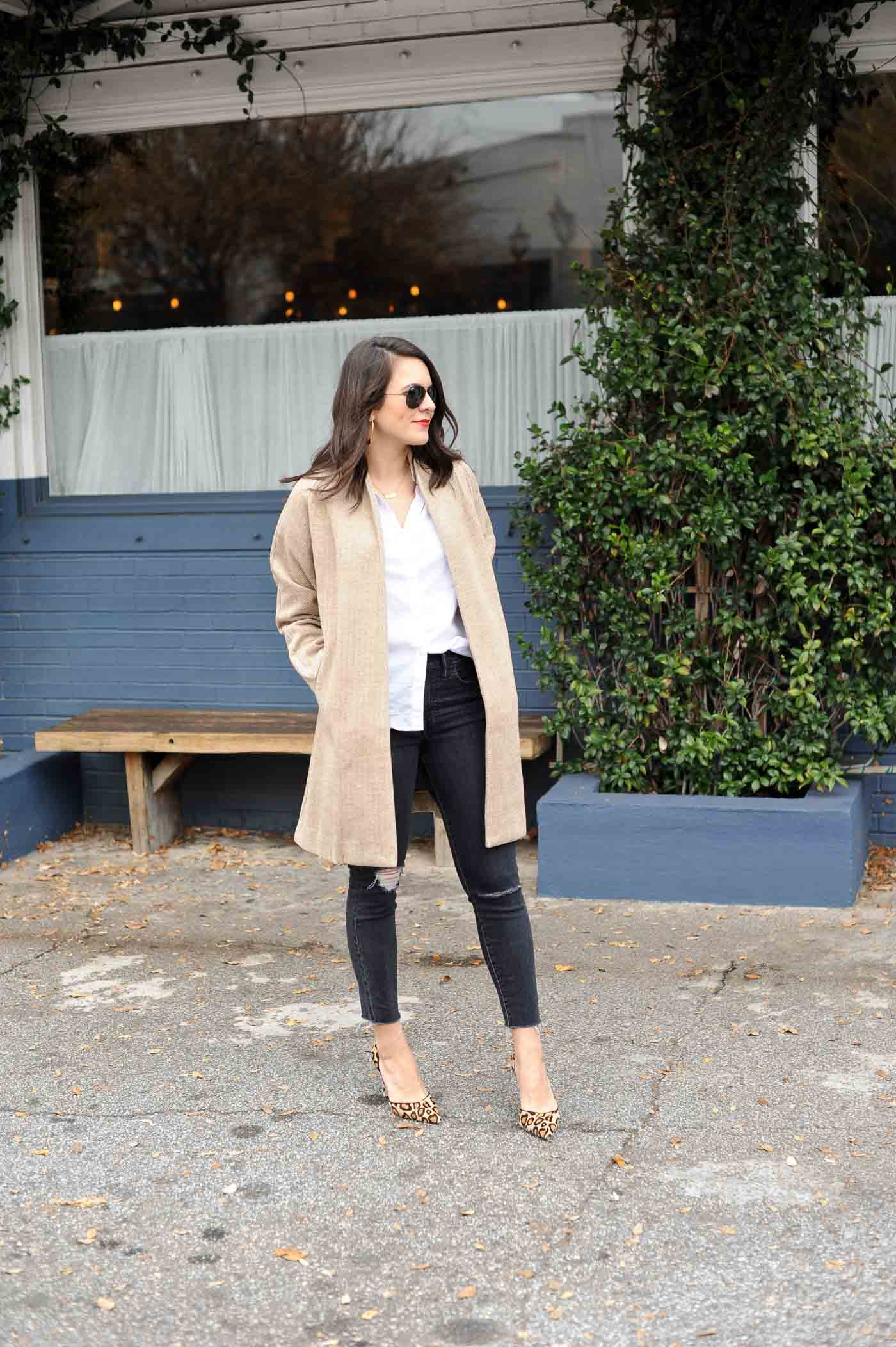 neutral outfit ideas, leopard heels - My Style Vita @mystylevita