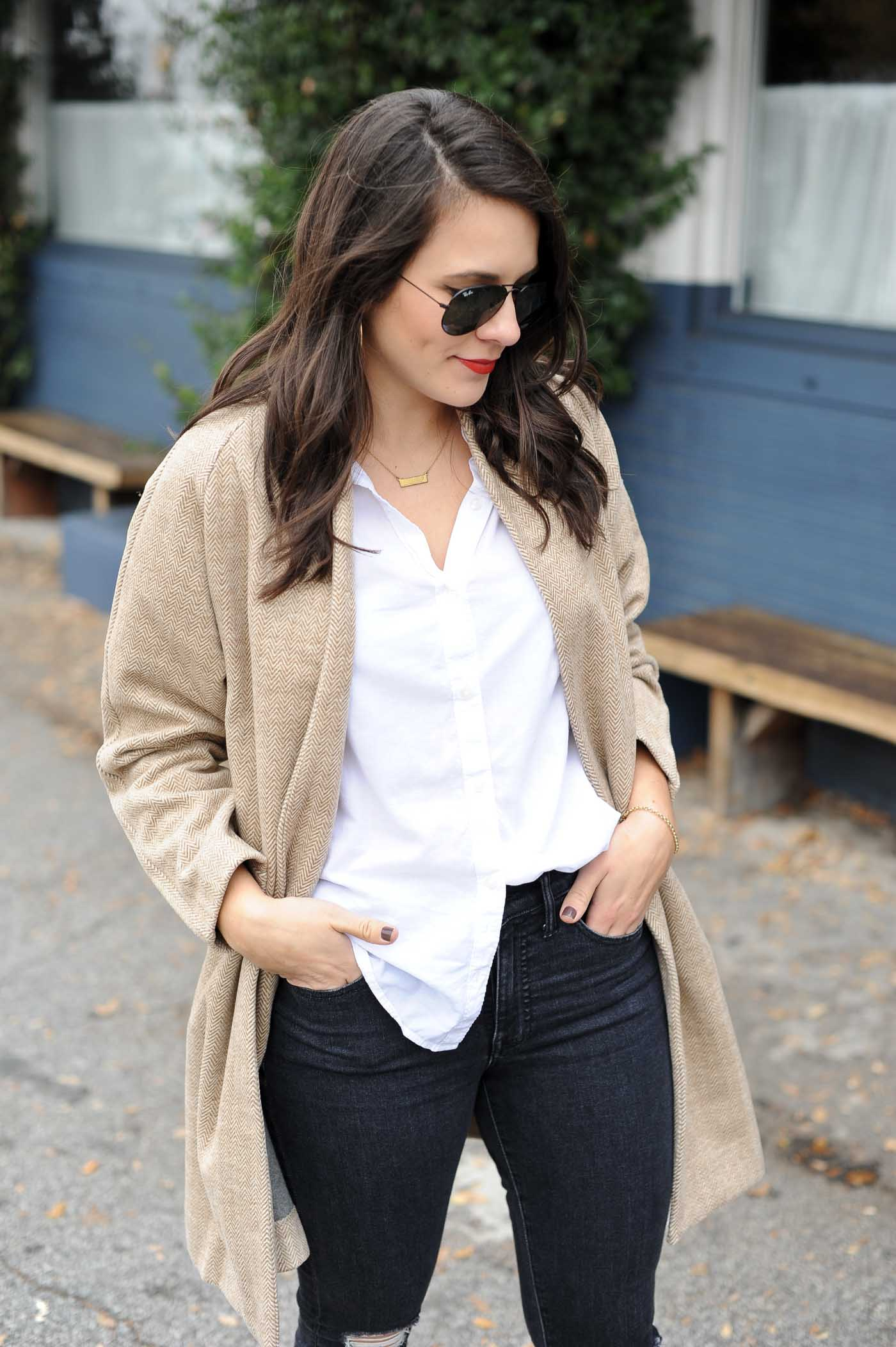 neutral outfit ideas, ray-ban aviators - My Style Vita @mystylevita