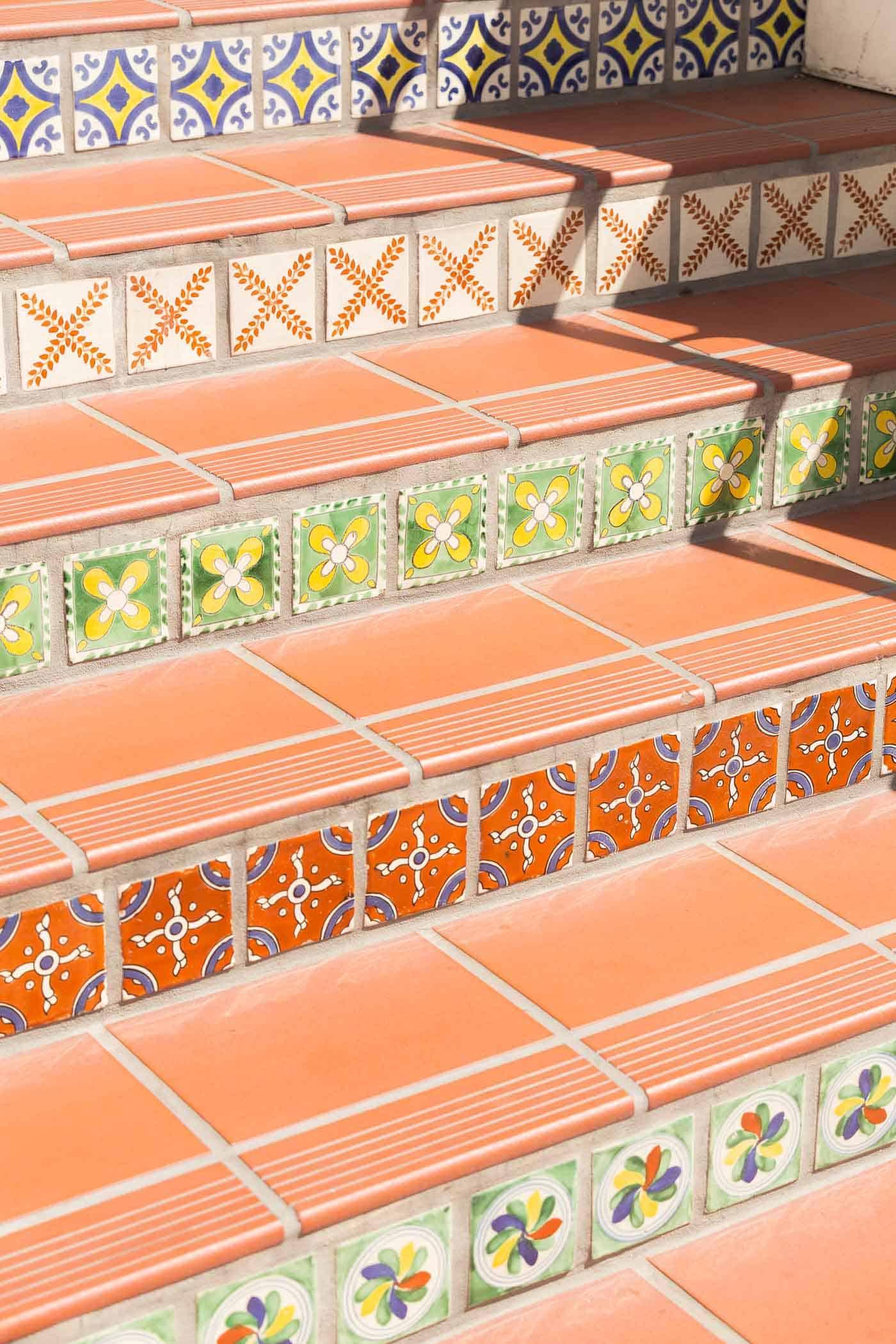 Colorful tiled steps, Paseo Nuevo Steps - My Style Vita @mystylevita