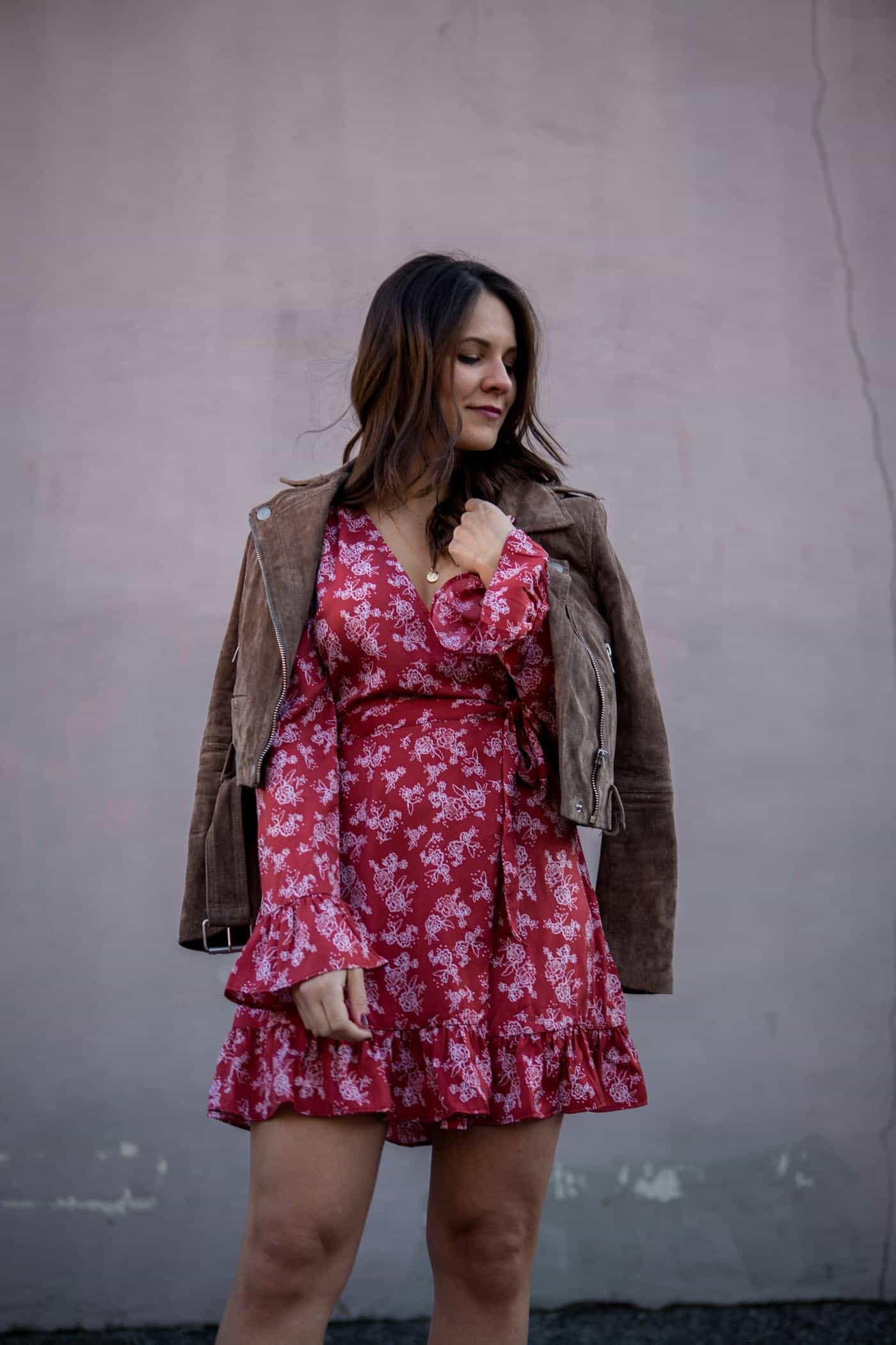 floral wrap dress, spring outfits - My Style Vita