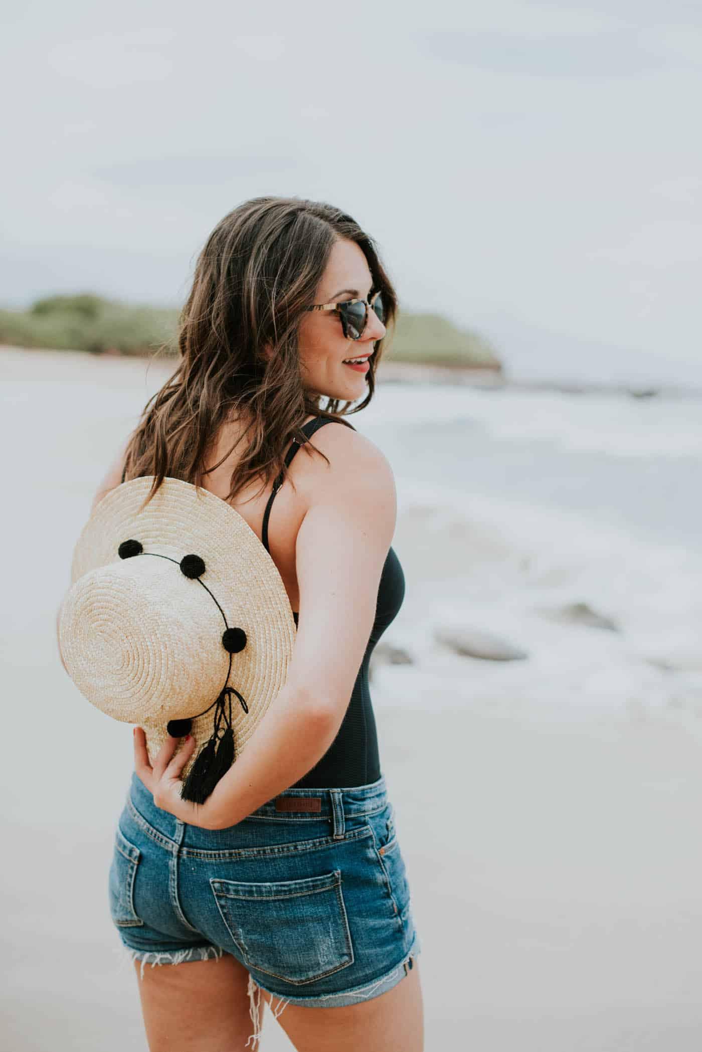 black swimsuit, hawaii beach, vacation style - My Style Vita @mystylevita