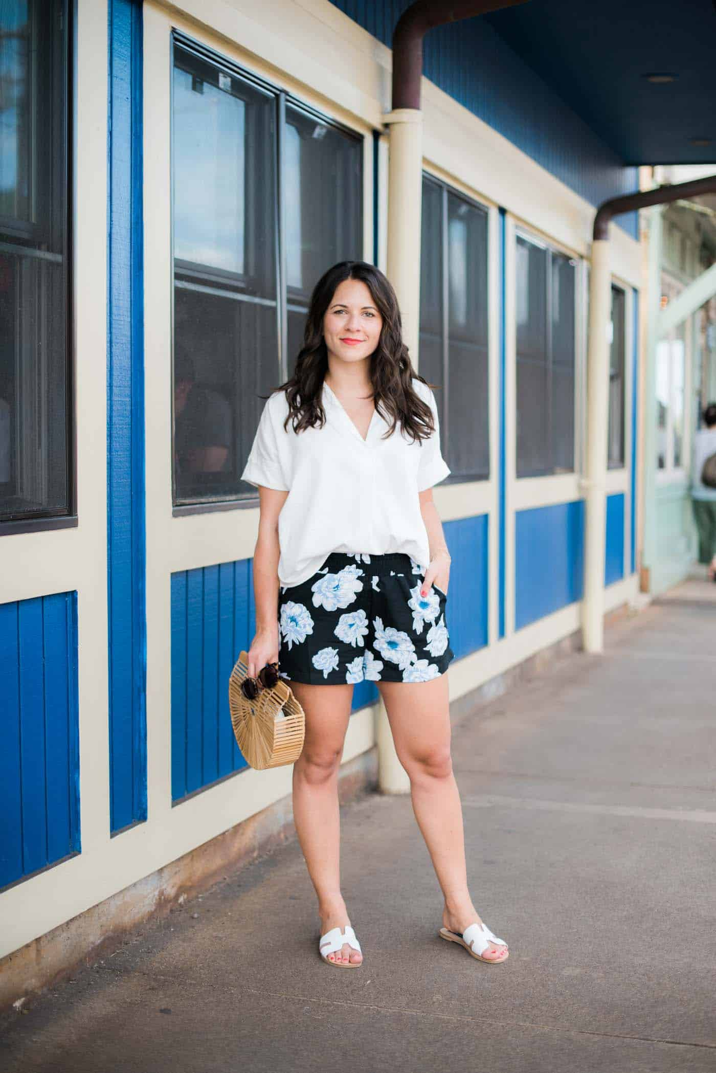 floral shorts, vacation style - My Style Vita -2