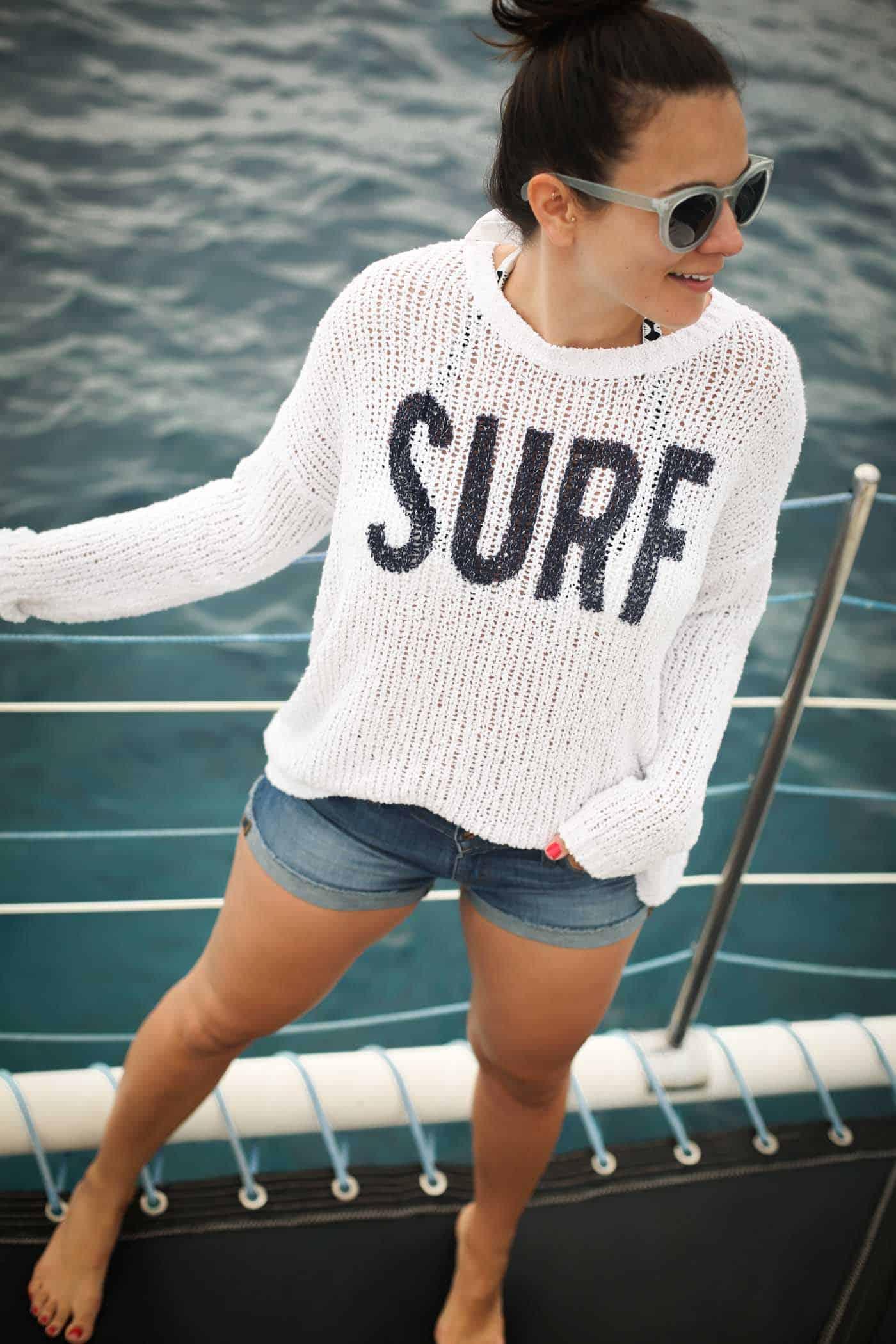 surf sweater, beach style, boat style, ocean - My Style Vita