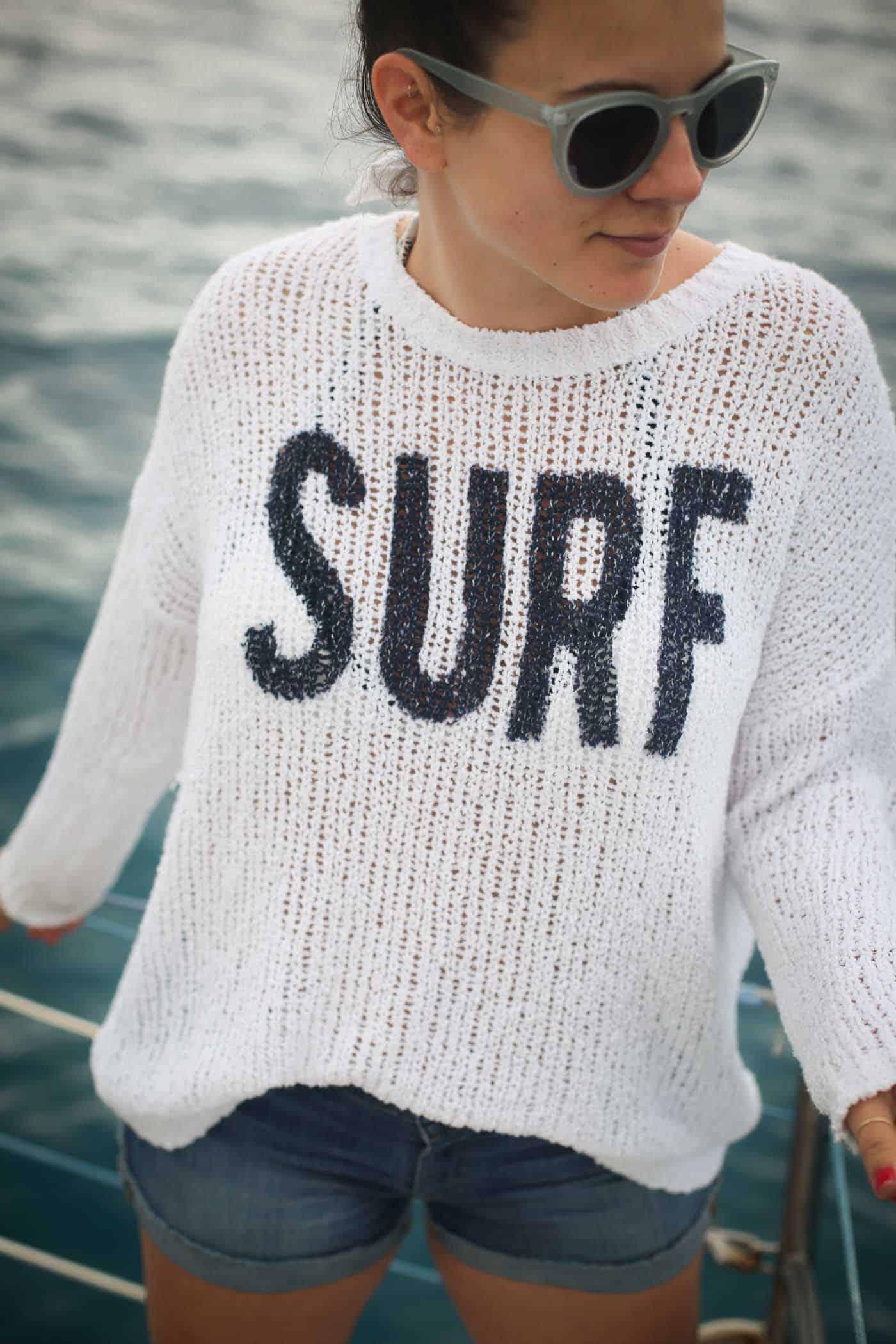 surf sweater, beach style, ocean - My Style Vita