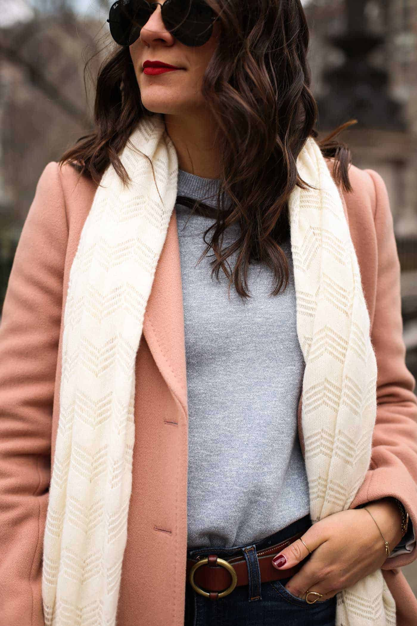 pastel winter outfit, new york city outfit ideas - My Style Vita