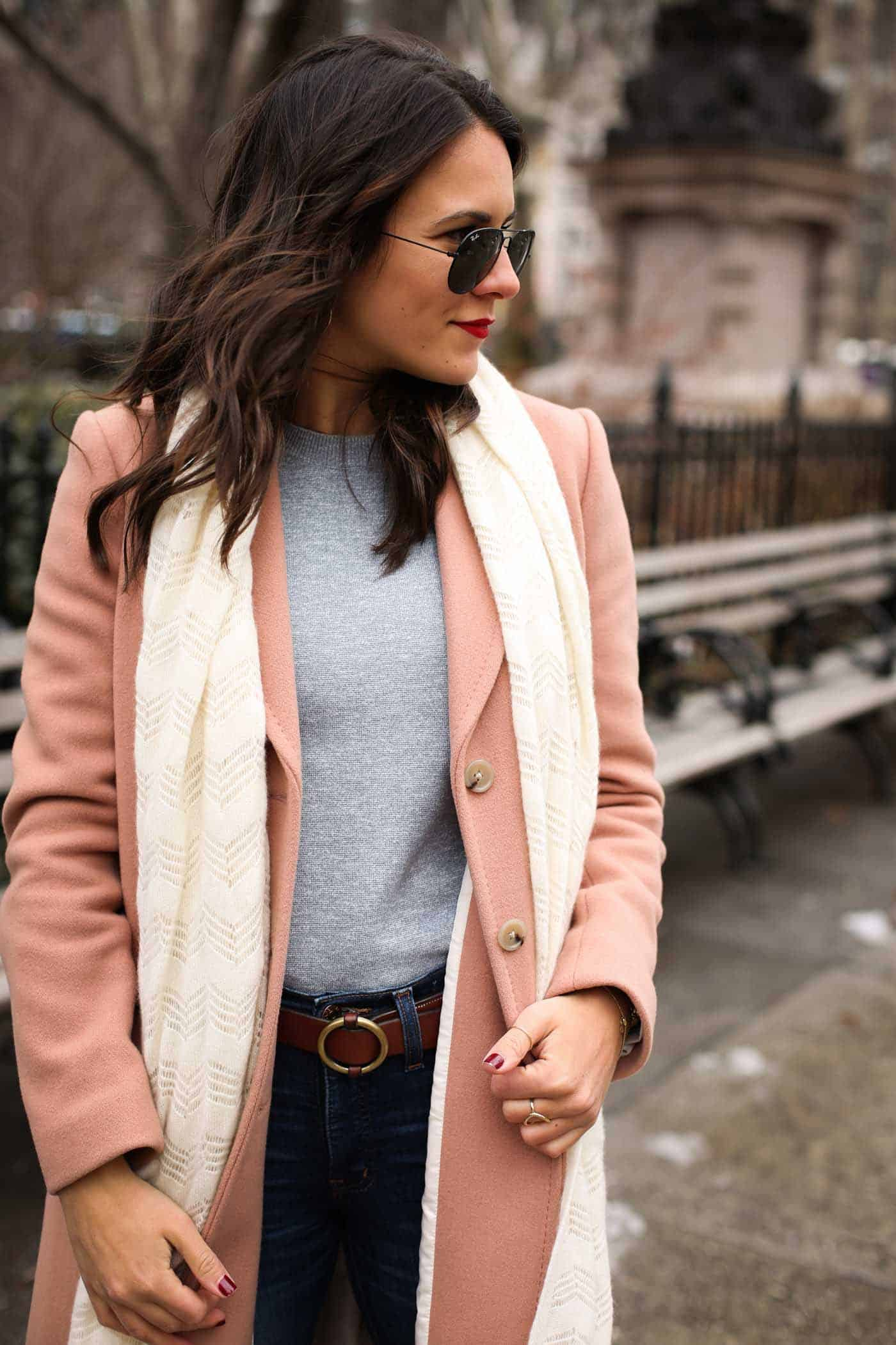 pastel winter outfit, new york city outfit ideas, new york city photos - My Style Vita