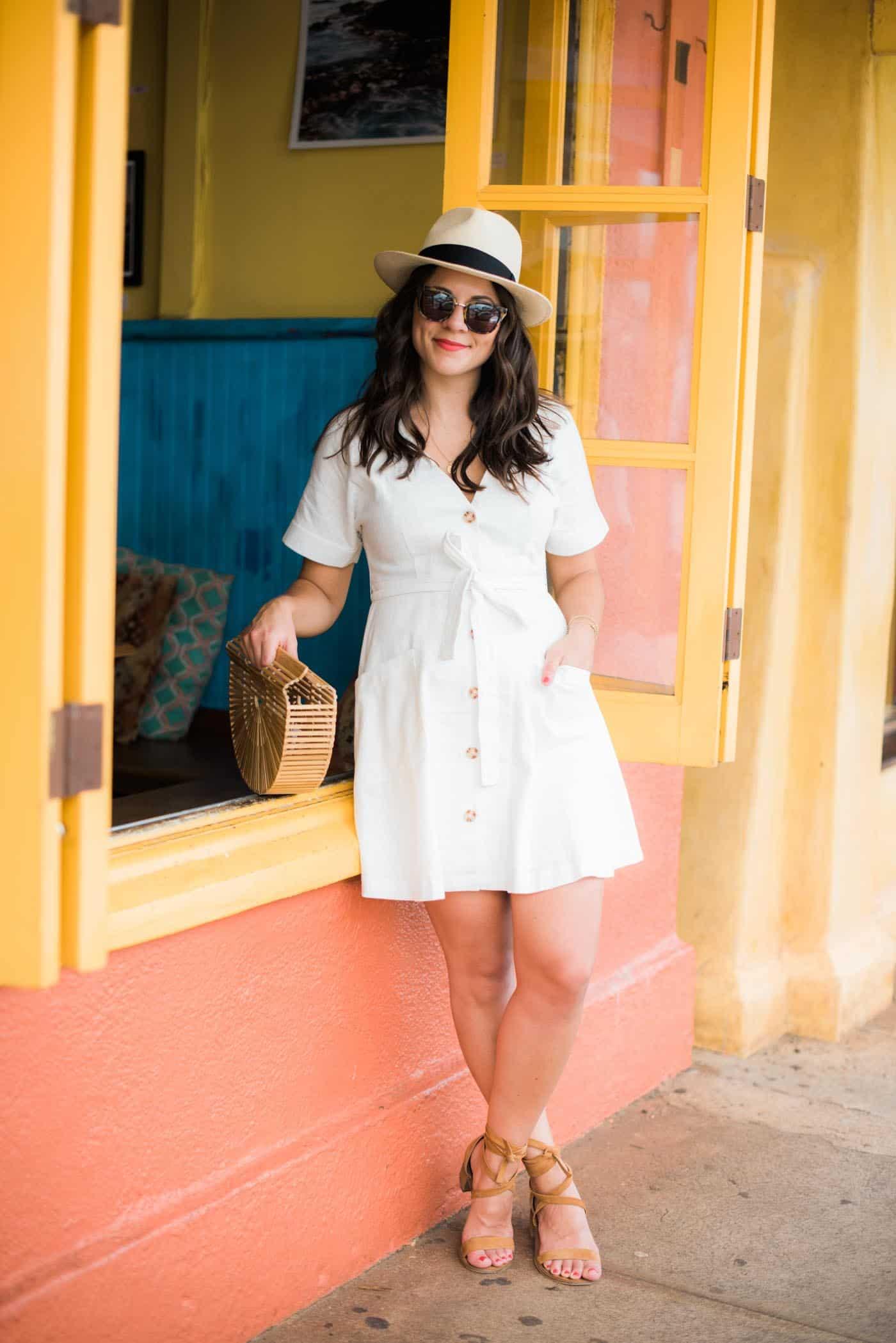 Moon River white linen dress, white summer dress - My Style Vita