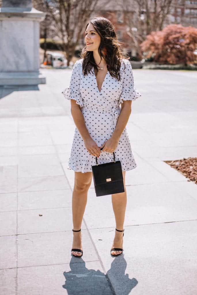 white wrap dress, little white dresses for spring - My Style Vita