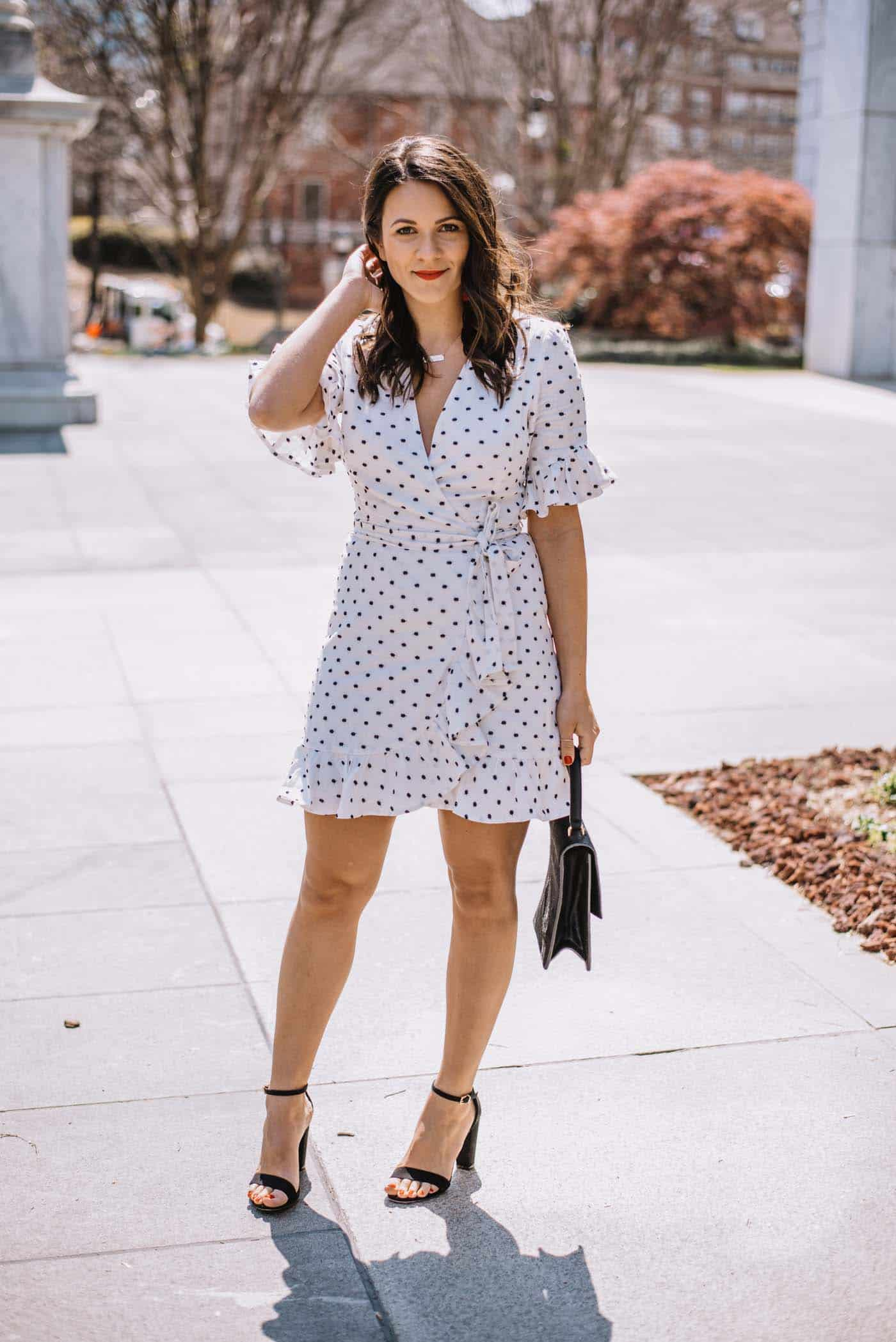 white wrap dress for spring, best little white dresses - My Style Vita
