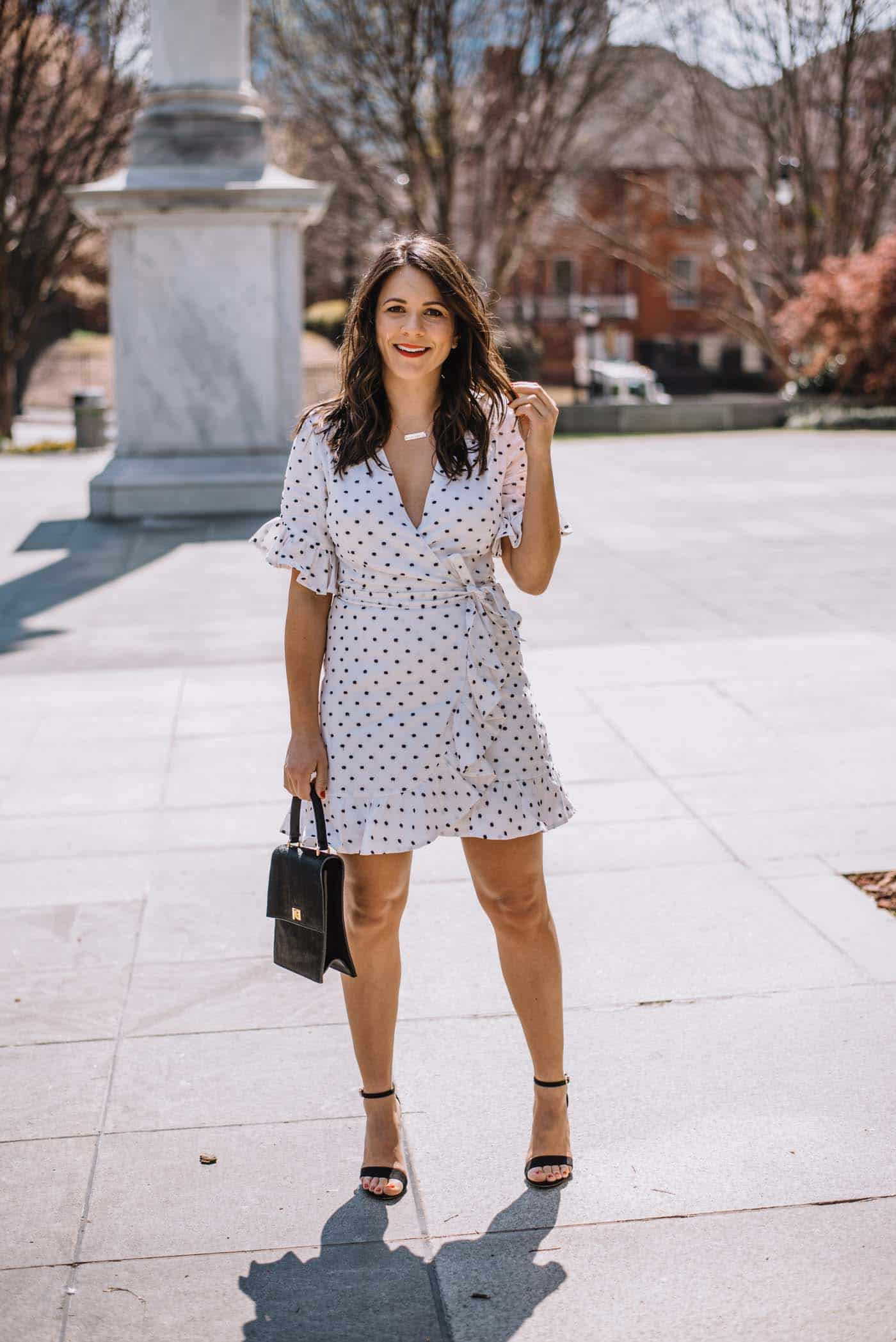 white wrap dress for spring, best little white dresses - My Style Vita