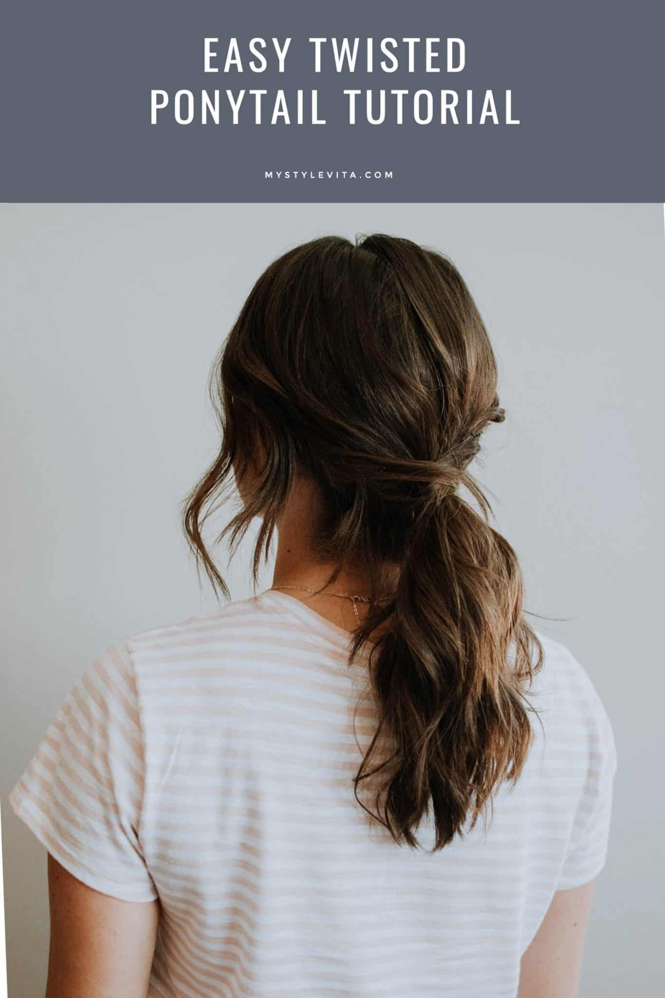 easy twisted ponytail tutorial, hair ideas for the office - My Style Vita