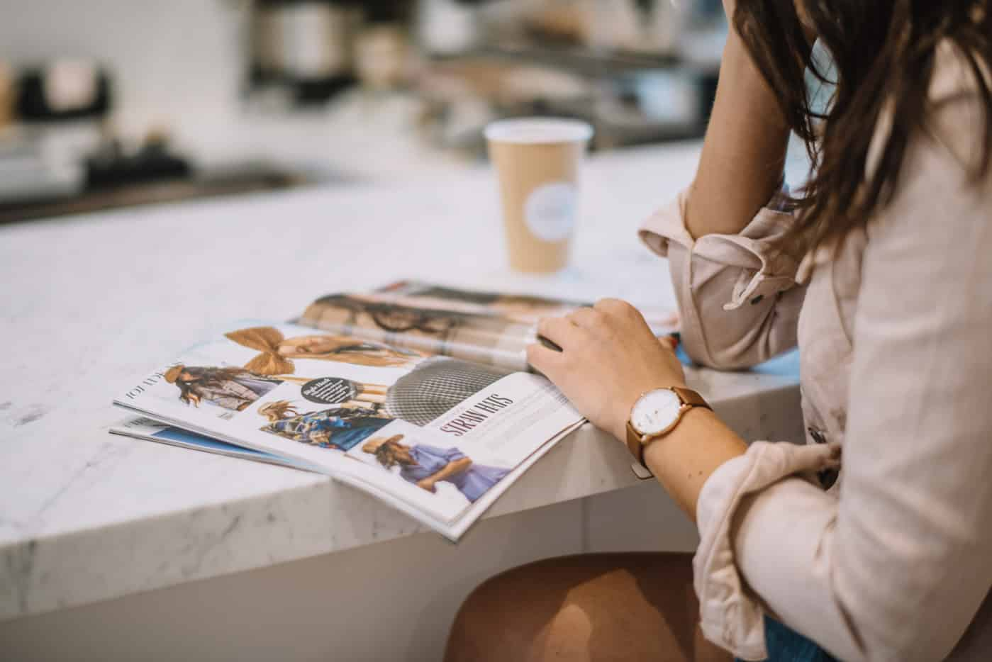 magazines, watch, coffee - My Style Vita