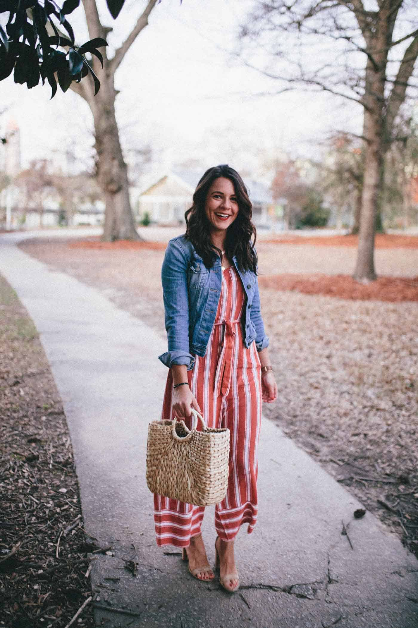 red striped jumpsuit, jumpsuit for spring - My Style Vita