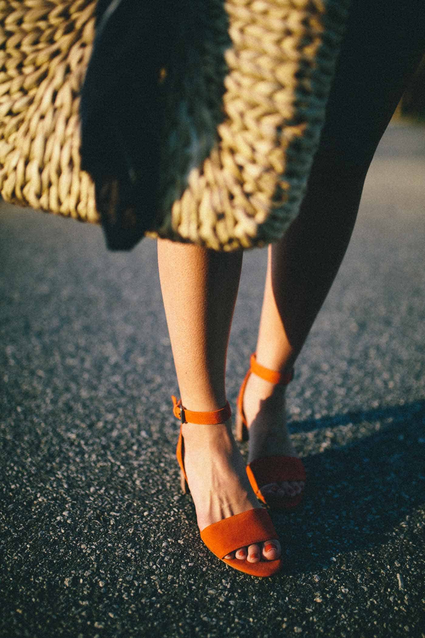 red sandals for spring, straw bag, spring outfit - My Style Vita