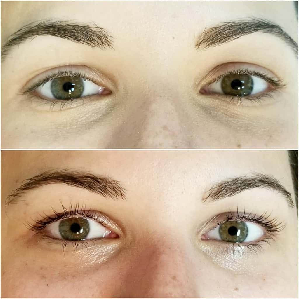 lash lift and tint, before and after lash lift, Atlanta lash lift salon - My Style Vita