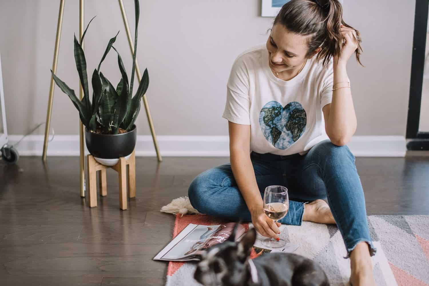 How To Be More Eco Friendly At Home, heart earth tee - My Style Vita