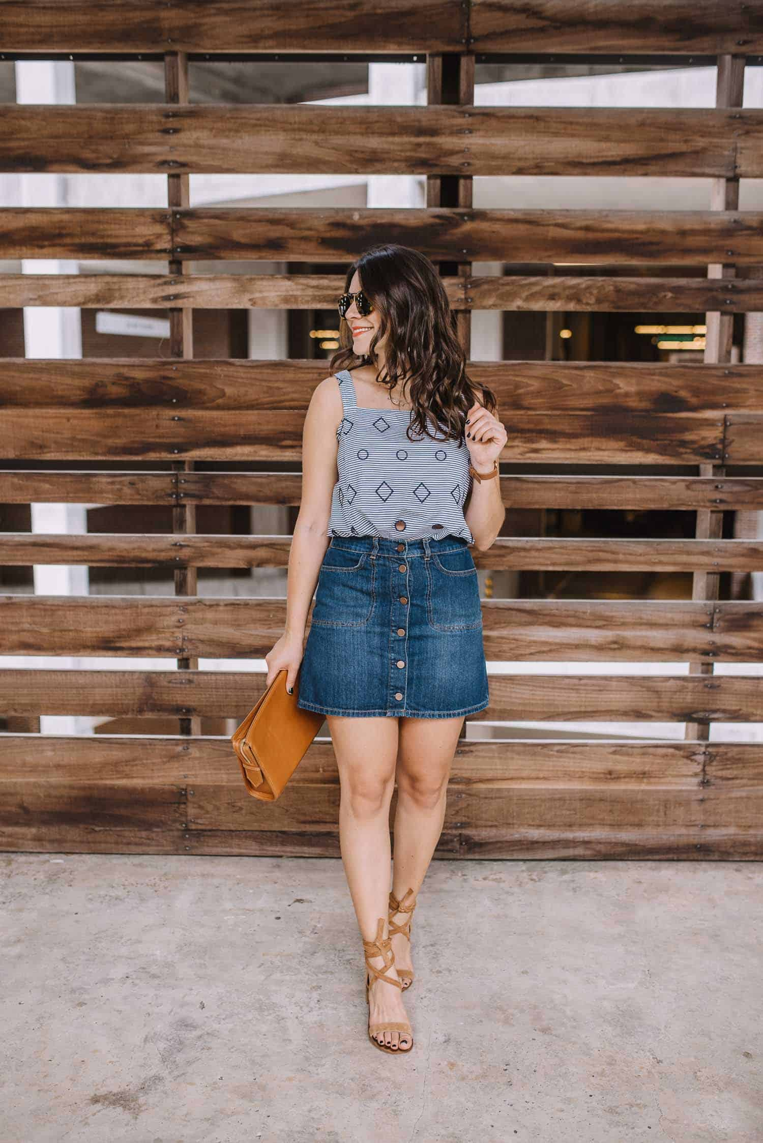 how to style a denim skirt, summer outfit ideas - My Style Vita