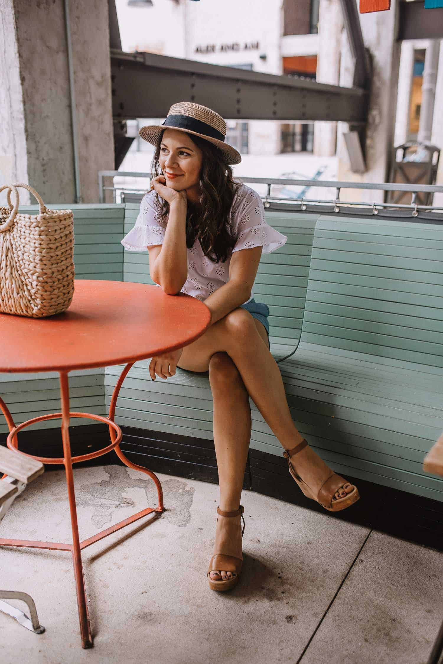 white cotton eyelet top, summer outfit ideas - My Style Vita