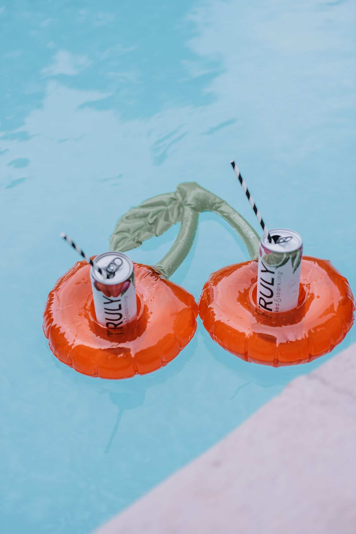 cherry drink float for the pool