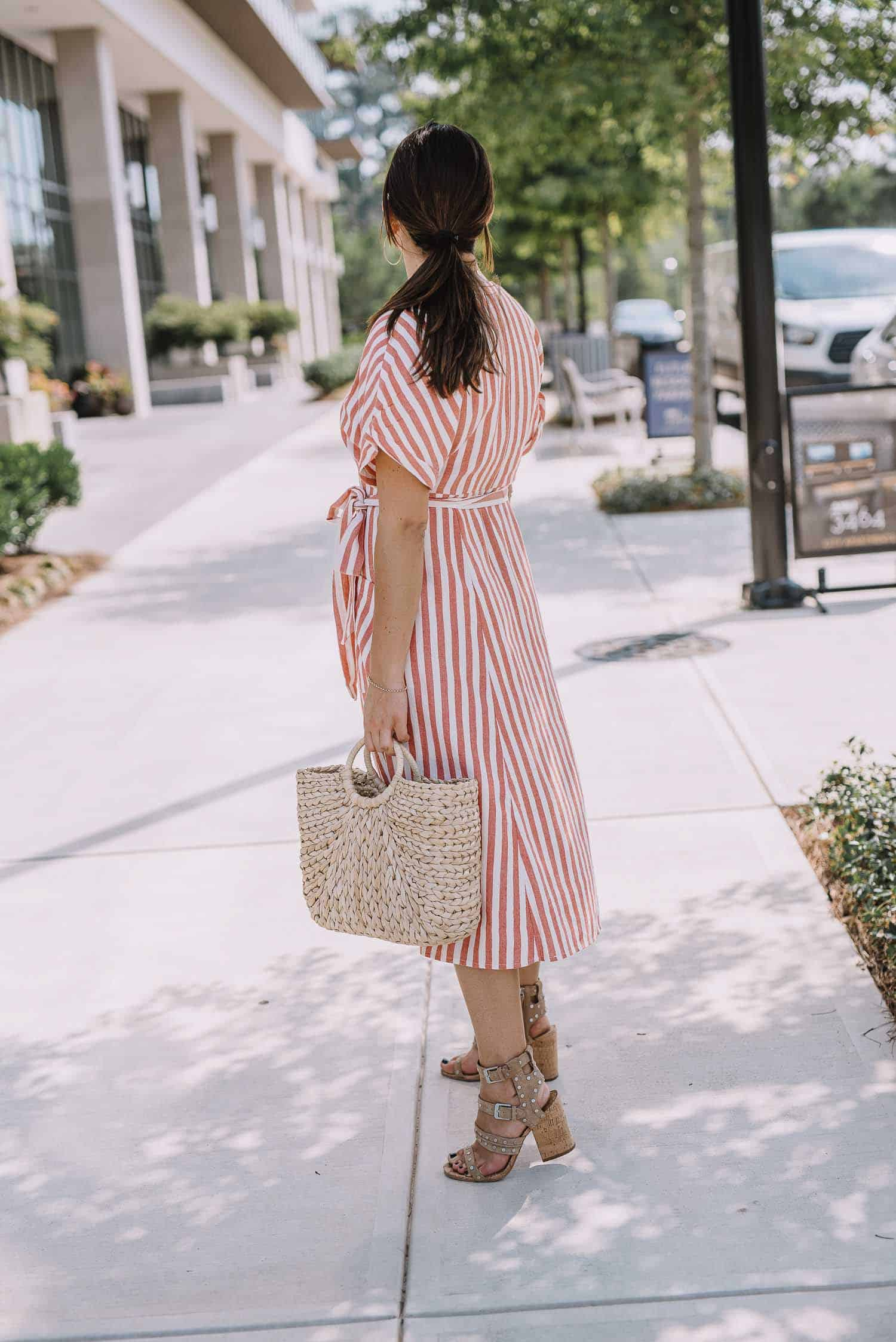 striped button front dress, summer dresses - My Style Vita