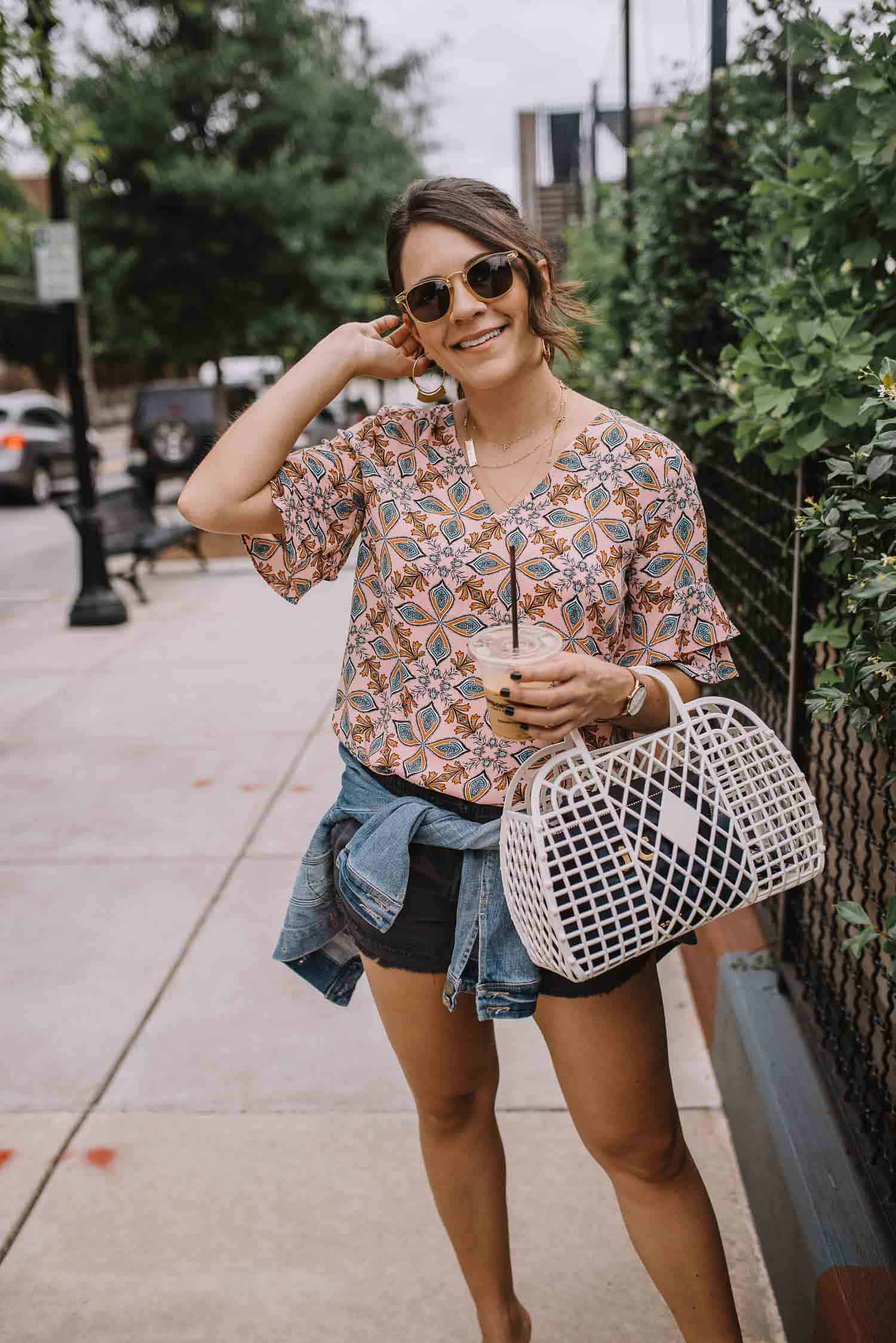 LOFT Kaleidoscope Top, summer tops for the office - My Style Vita