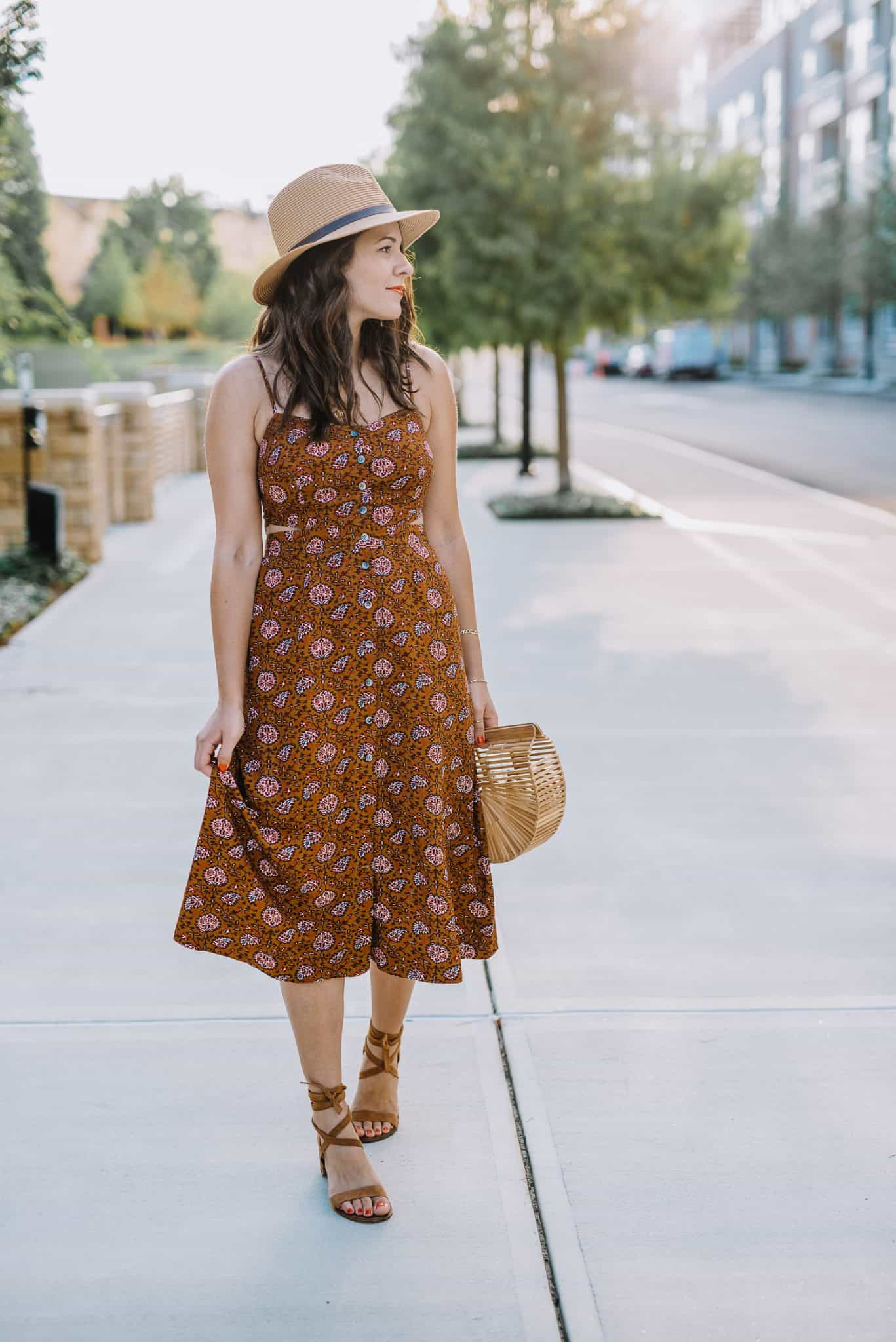 midi dress, summer outfit ideas, Madewell cutout midi dress - My Style Vita