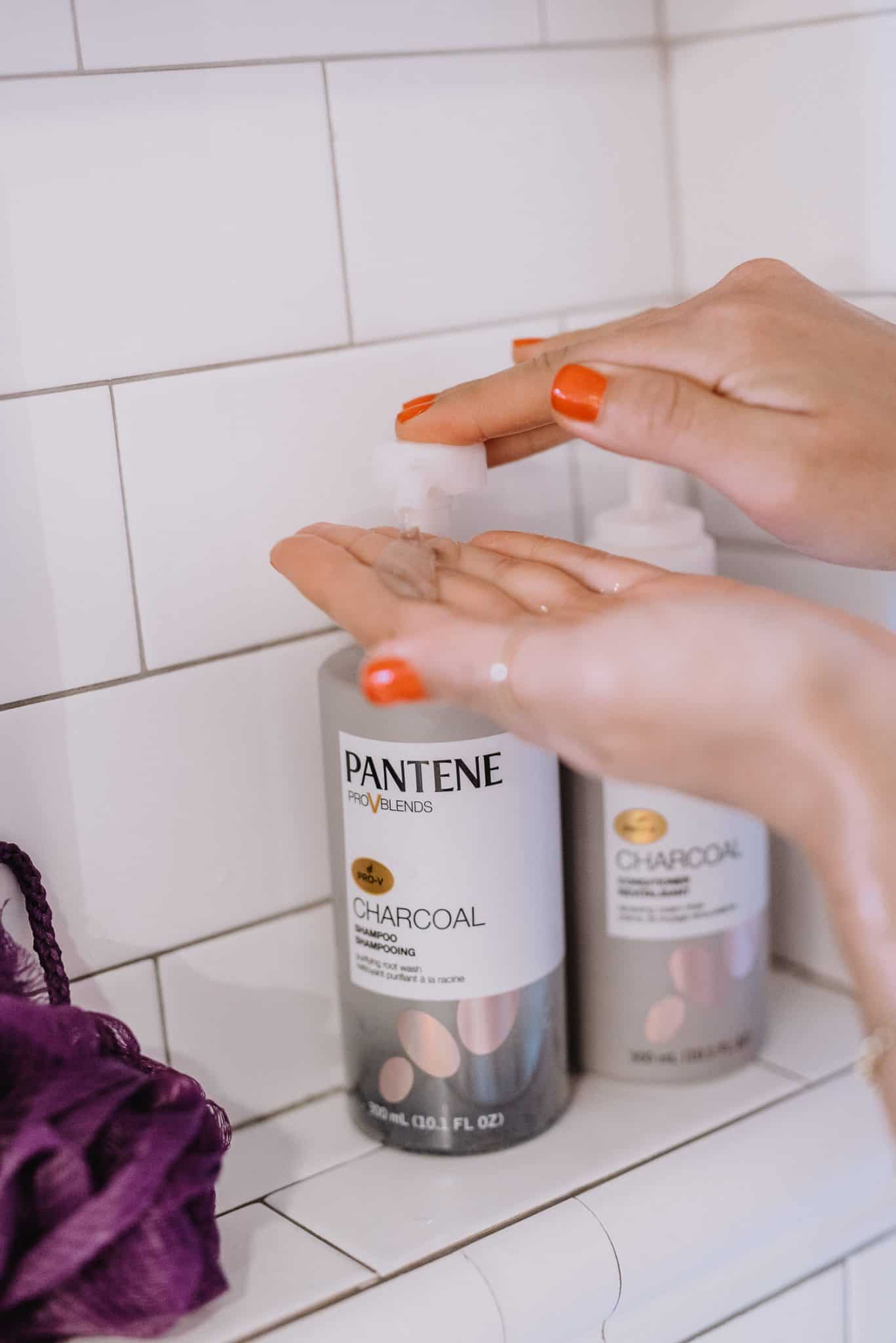Pantene Charcoal in the shower