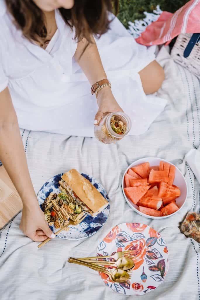 summer picnic setup