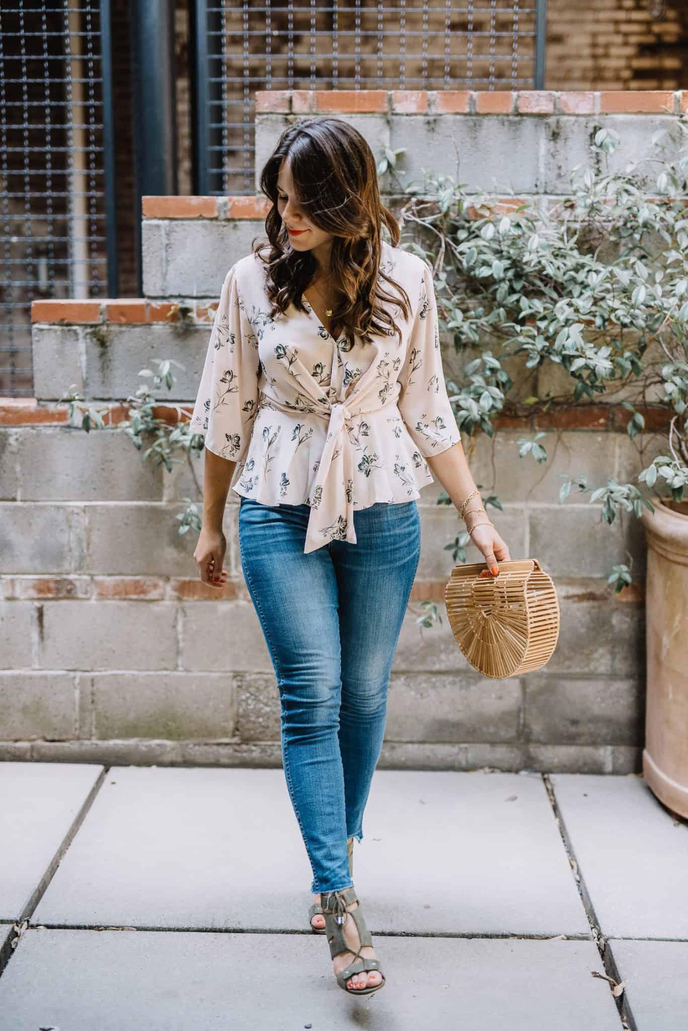 cult gaia bag, madewell jeans, wayf top