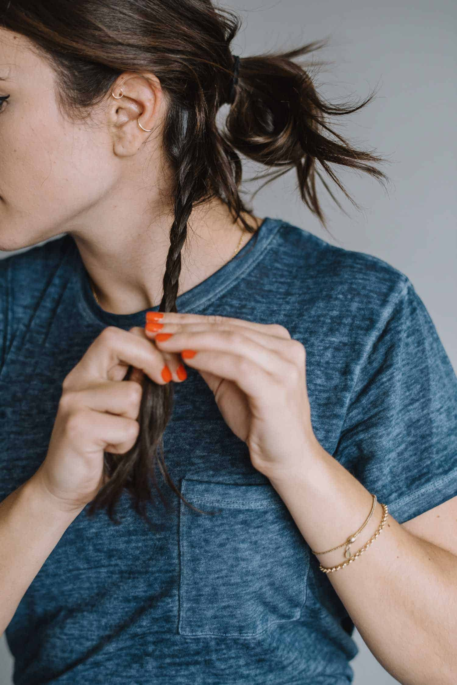 A No Heat Hairstyle For Day or Night - Step Two