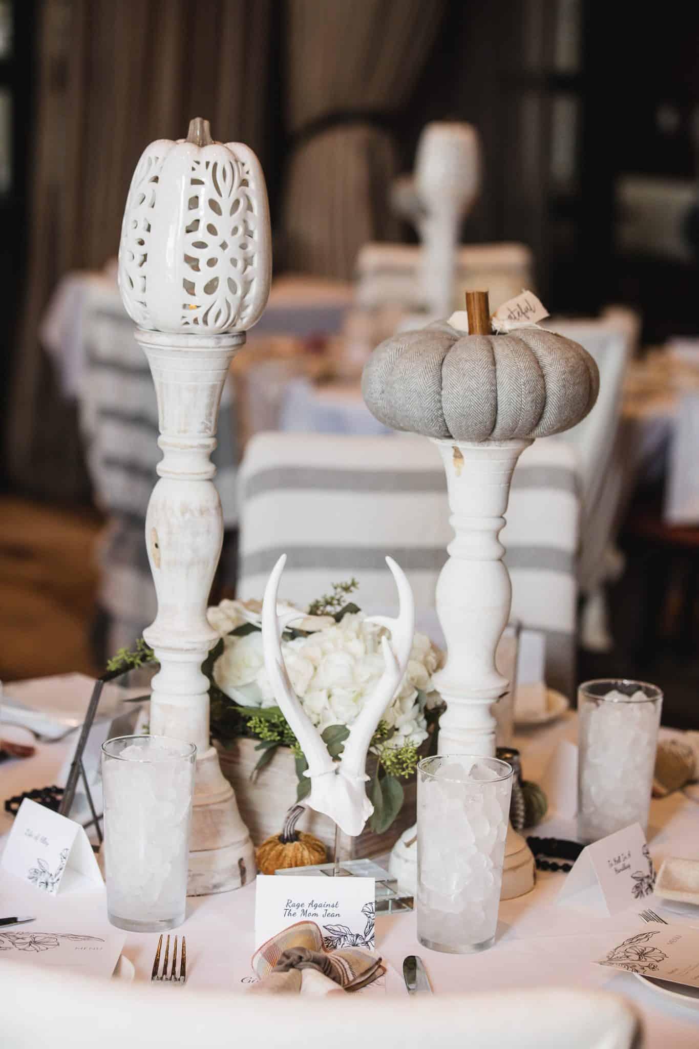 fall centerpiece ideas, autumn tablescape - My Style Vita