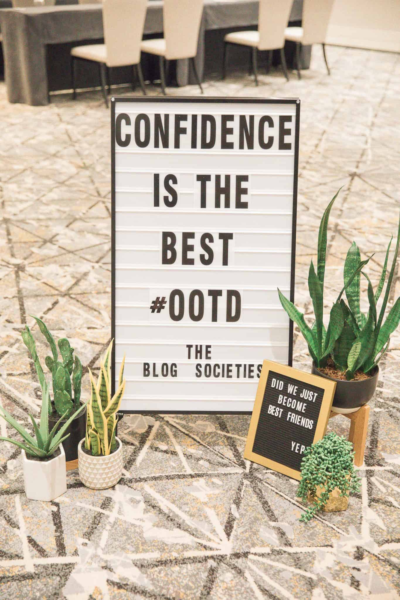 letterboard ideas, confidence is the best ootd - My Style Vita