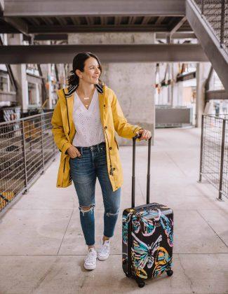 bright suitcases