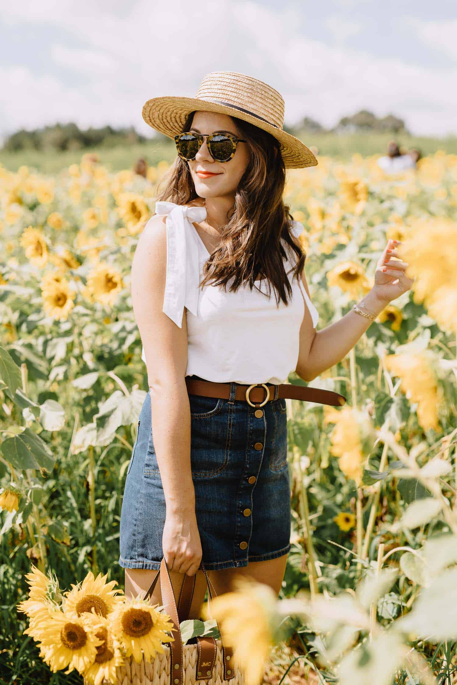 sunflower farm outfit, Anderson sunflower farm, Atlanta sunflower farm - My Style Vita