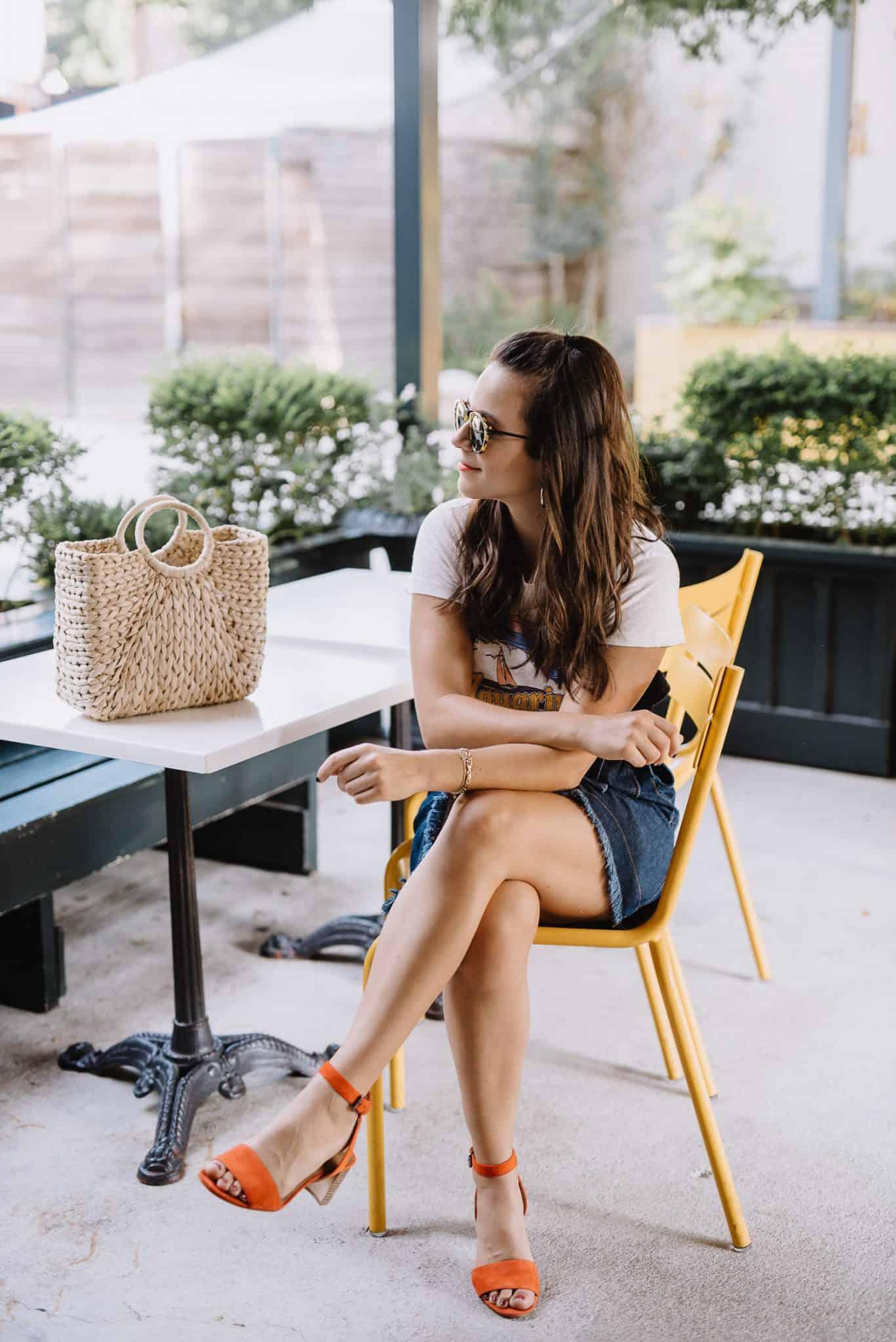 madewell x karen walker denim skirt, wrap denim skirt, casual summer outfit - My Style Vita