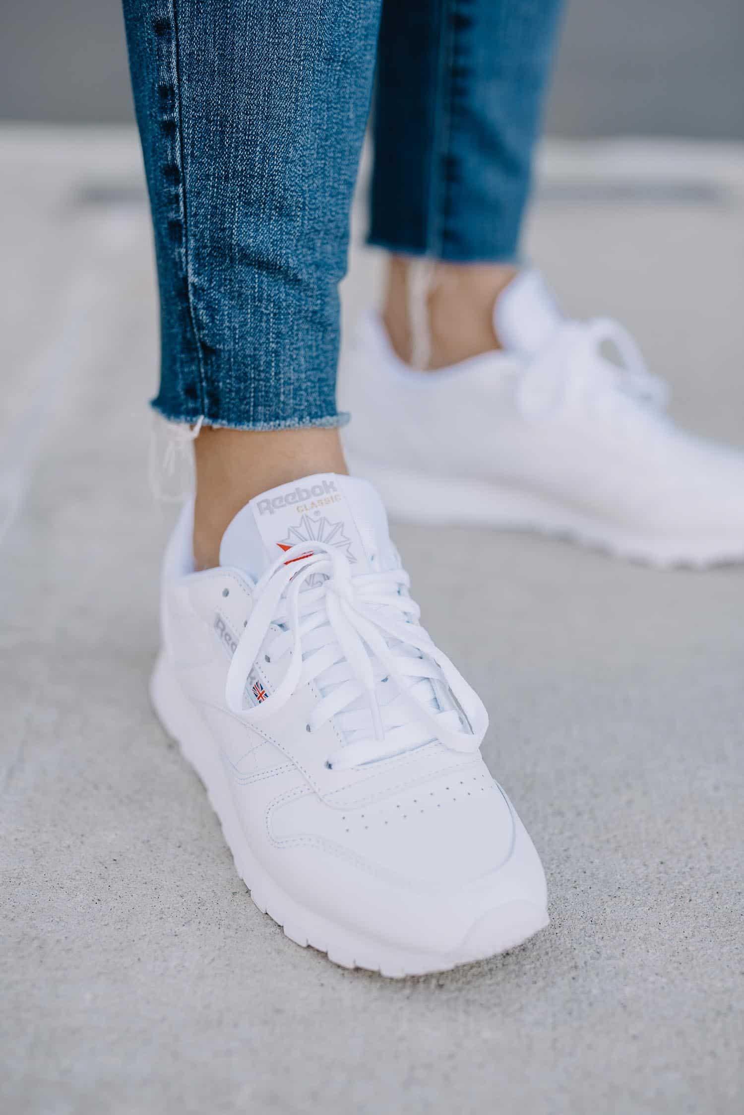 how to style reebok classics, white sneakers - My Style Vita