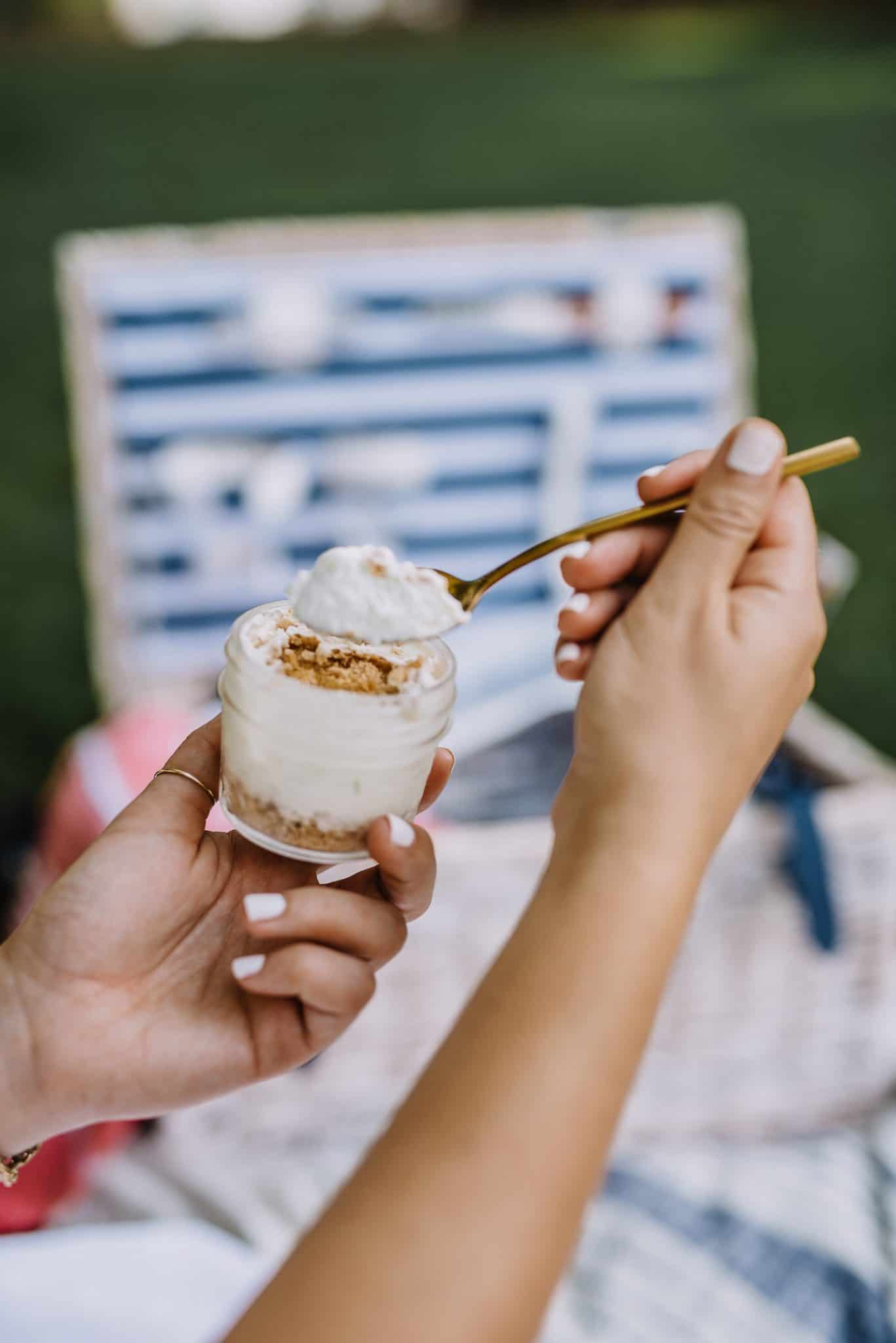 no bake key lime pie, mini desserts, mason jar dessert ideas - My Style Vita