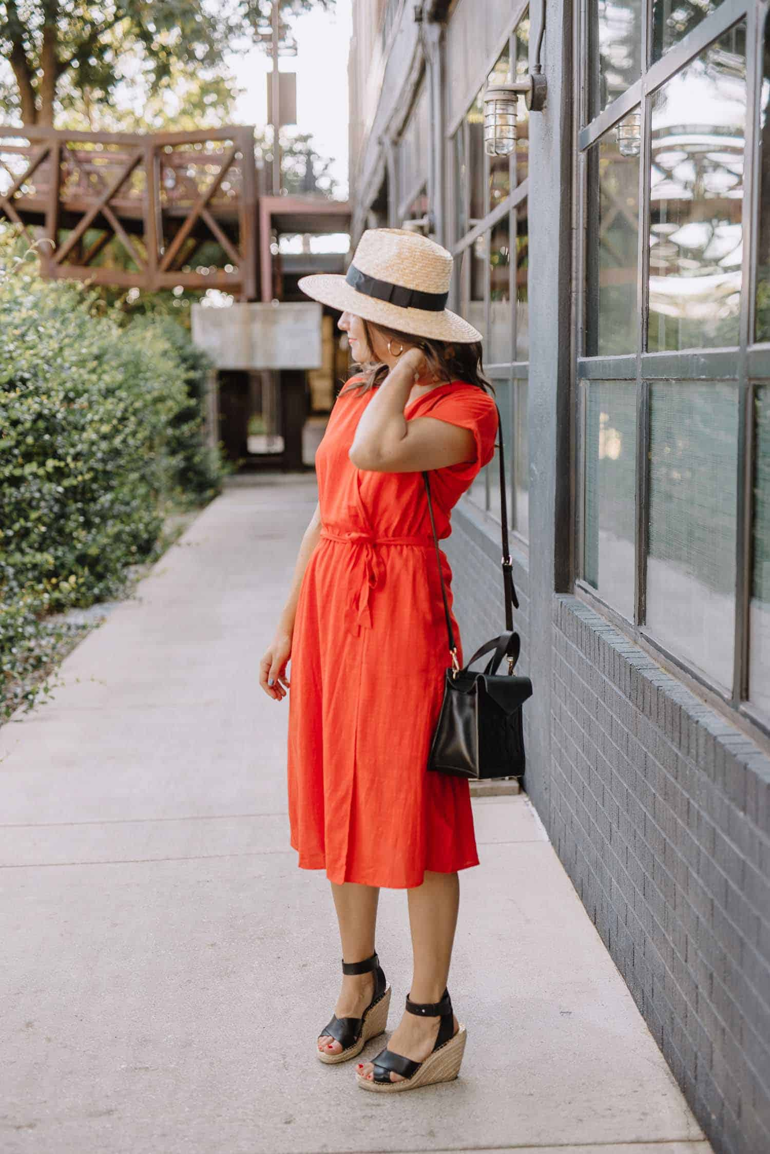 red wrap dress, affordable dresses for summer - My Style Vita
