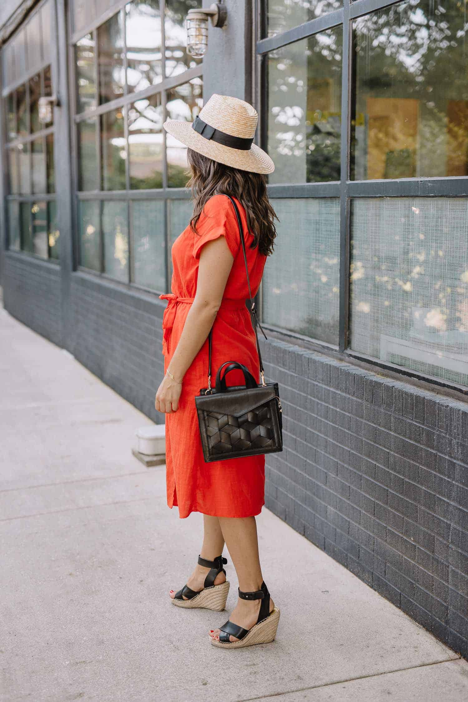 red wrap dress, affordable wrap dress, dresses for summer, best summer hat - My Style Vita