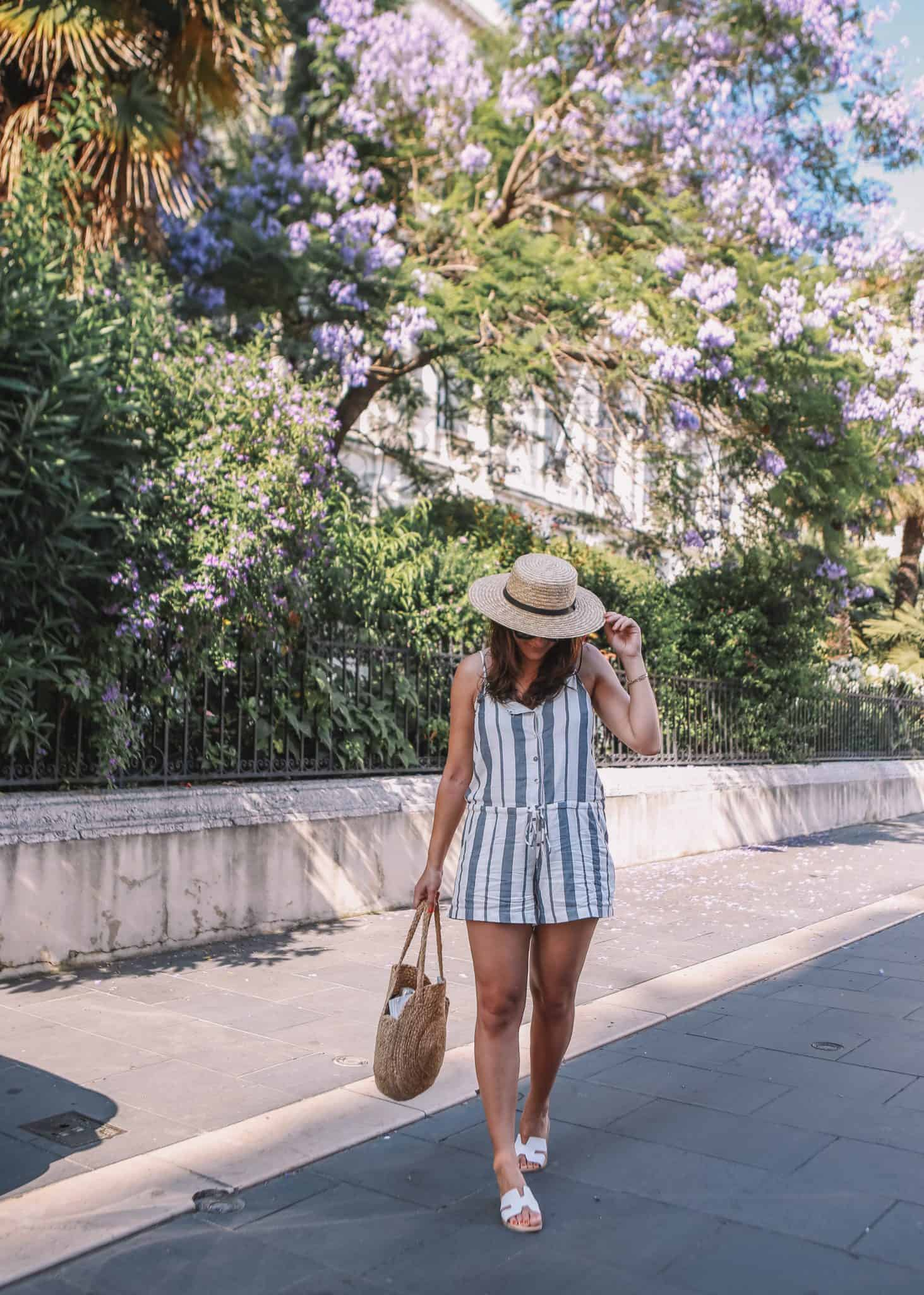 striped romper, south of france outfit ideas - My Style Vita