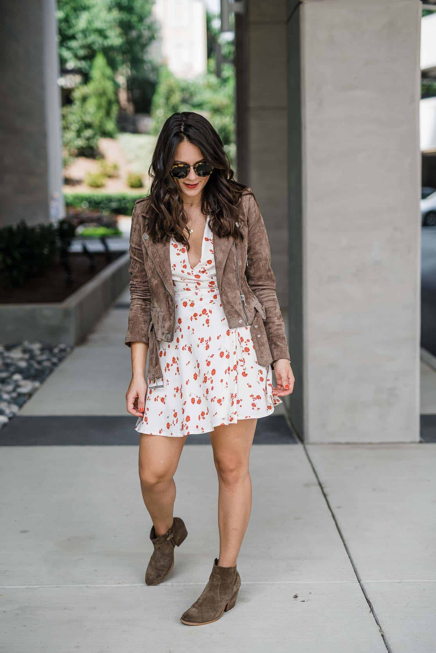 mini wrap dress for spring