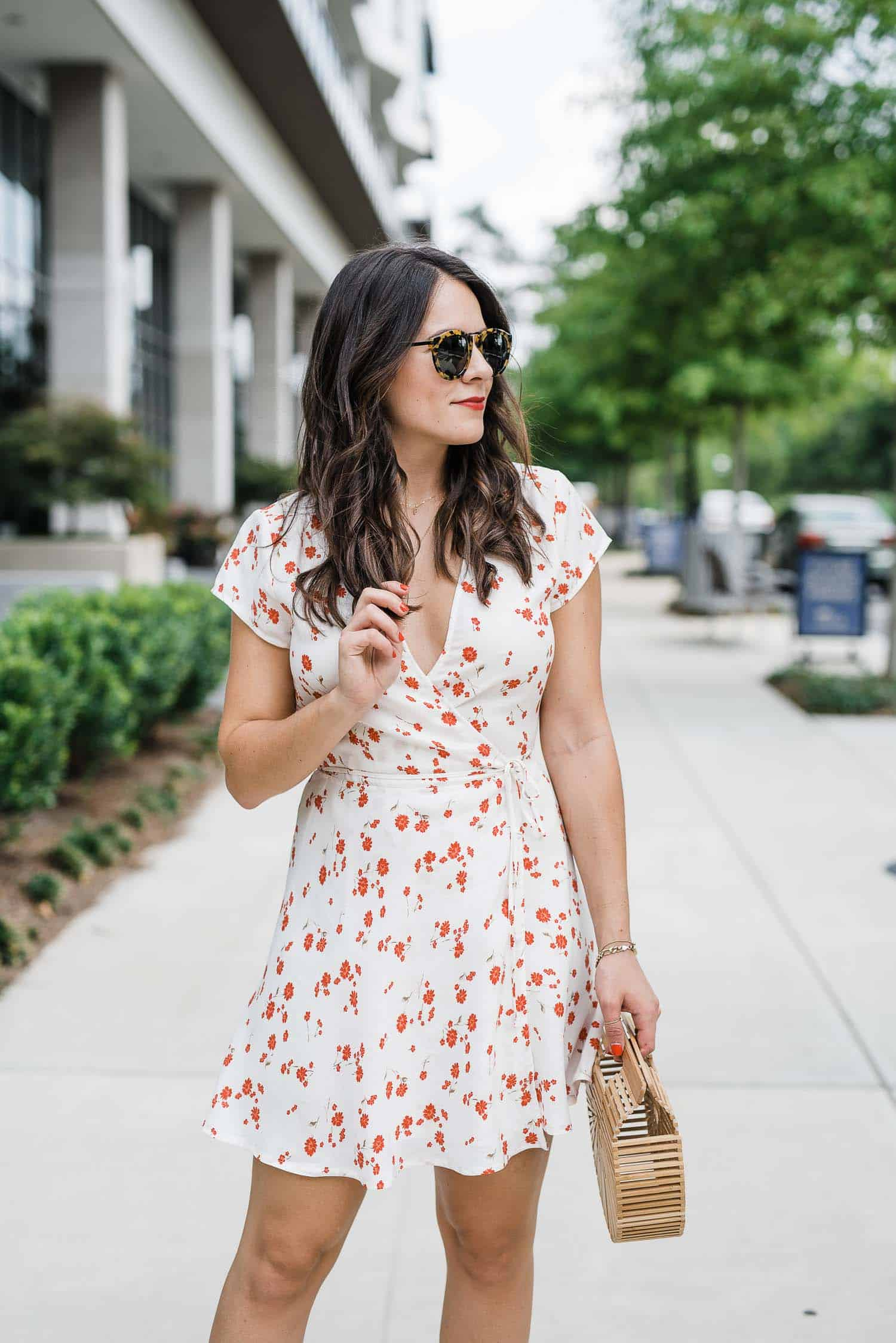 Reformation wrap mini dress for summer