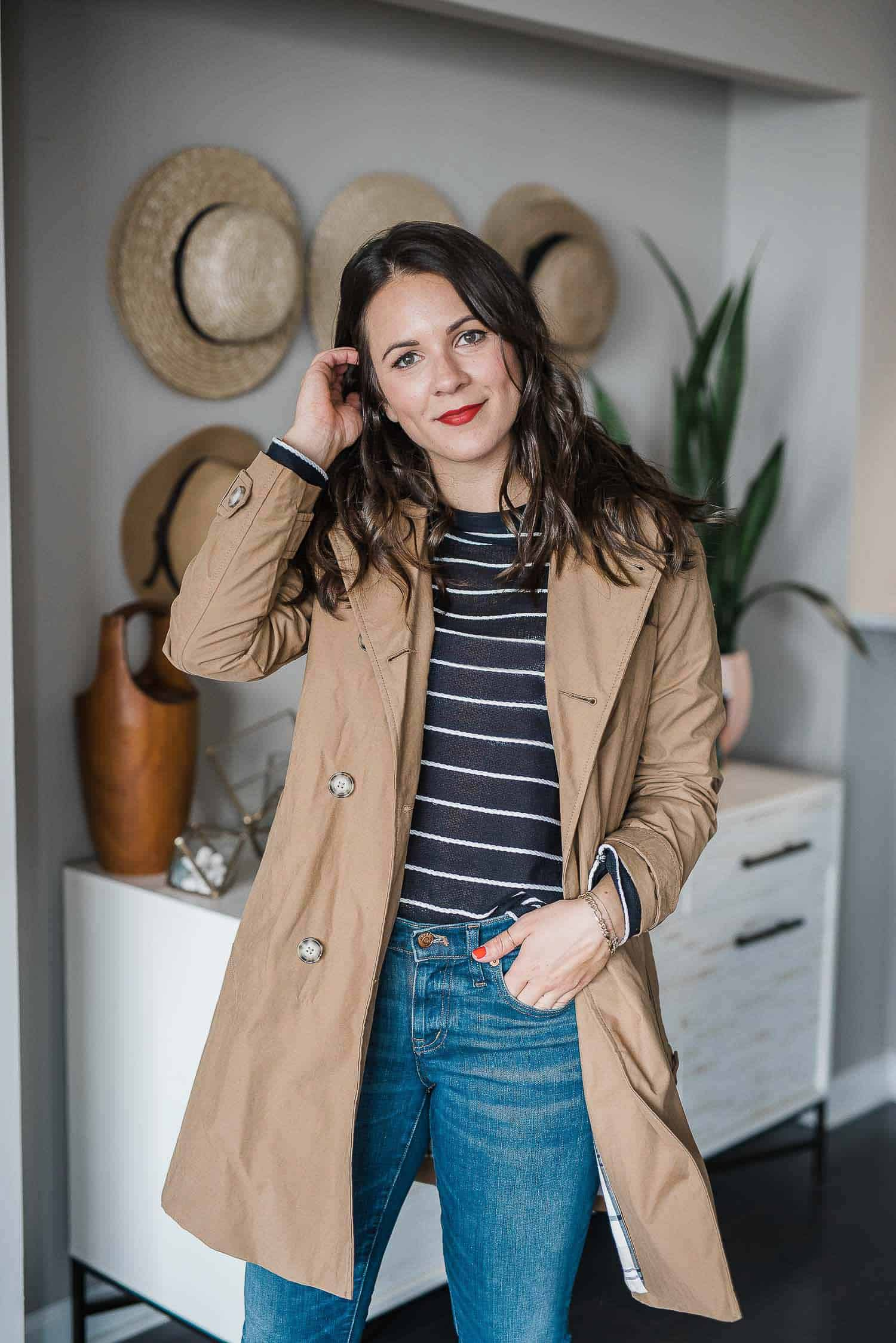 Trench coat, striped sweater and trench - My Style Vita @mystylevita